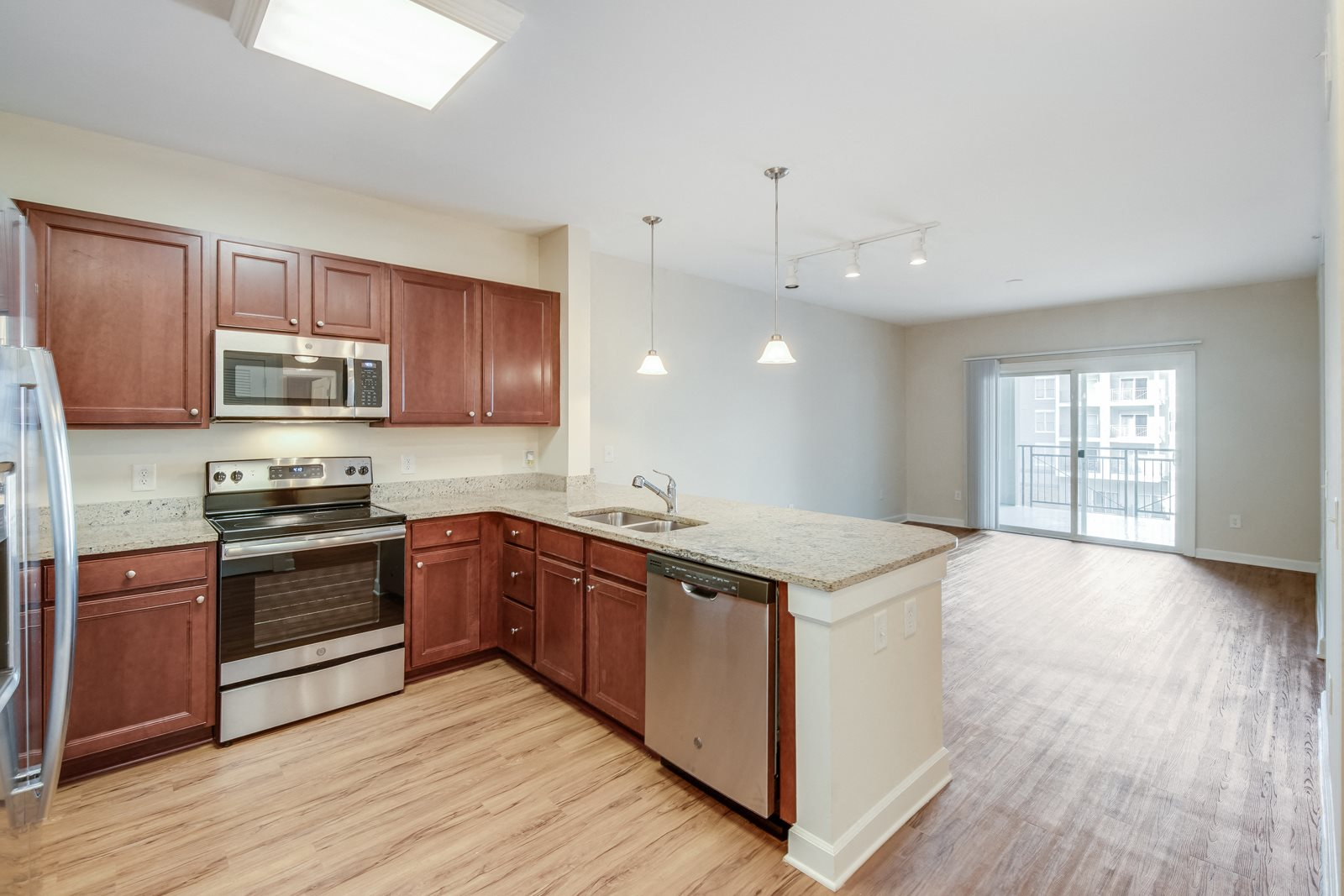 Wood-Style Flooring in Living Spaces at Windsor at Brookhaven, Atlanta, 30319