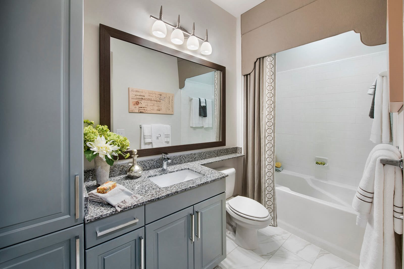 Luxurious Garden Tub in Spa-Inspired Bathroom at Windsor Chastain, Atlanta, 30342