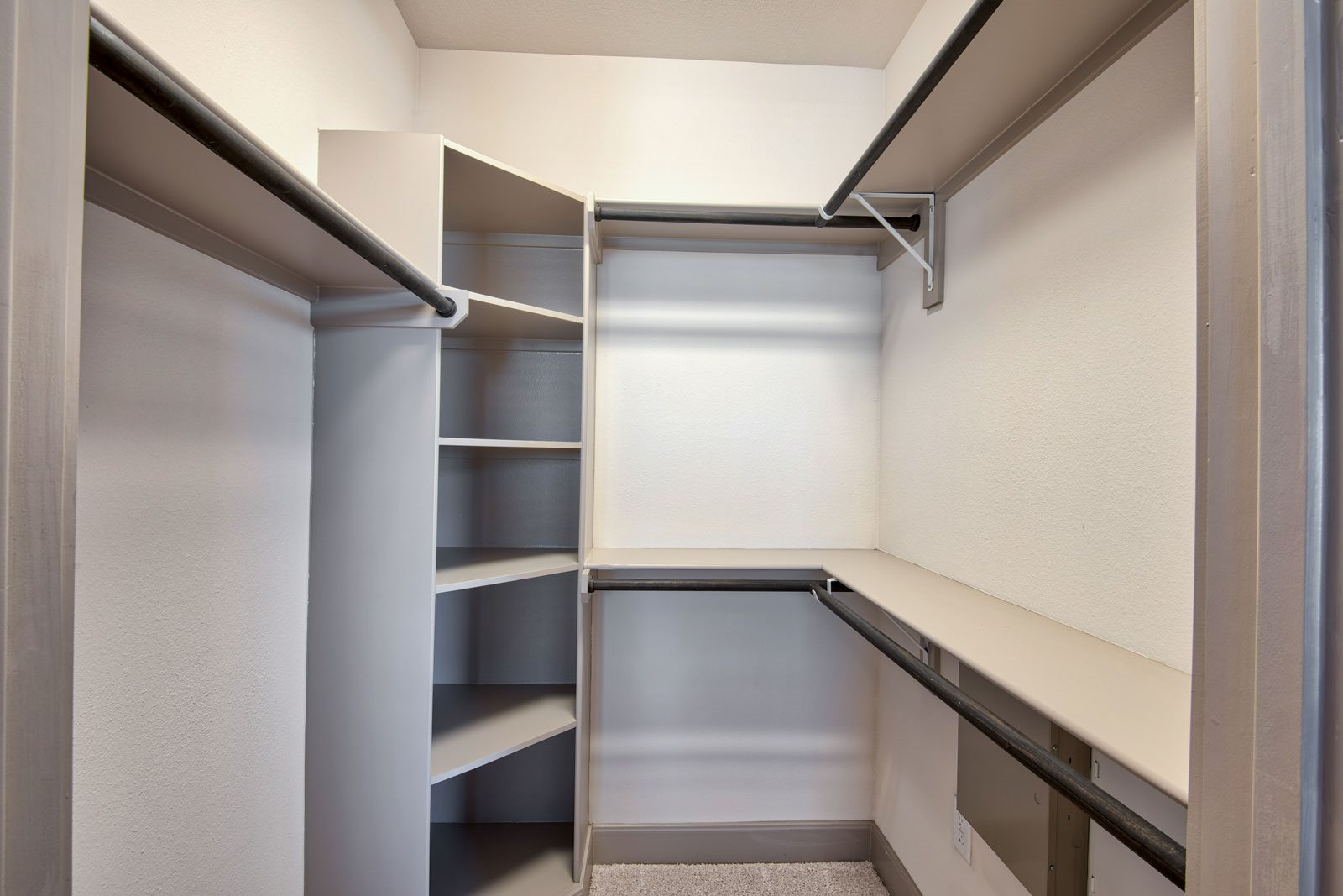 Walk-In Closets with Custom Shelving at Midtown Houston by Windsor, Houston, Texas