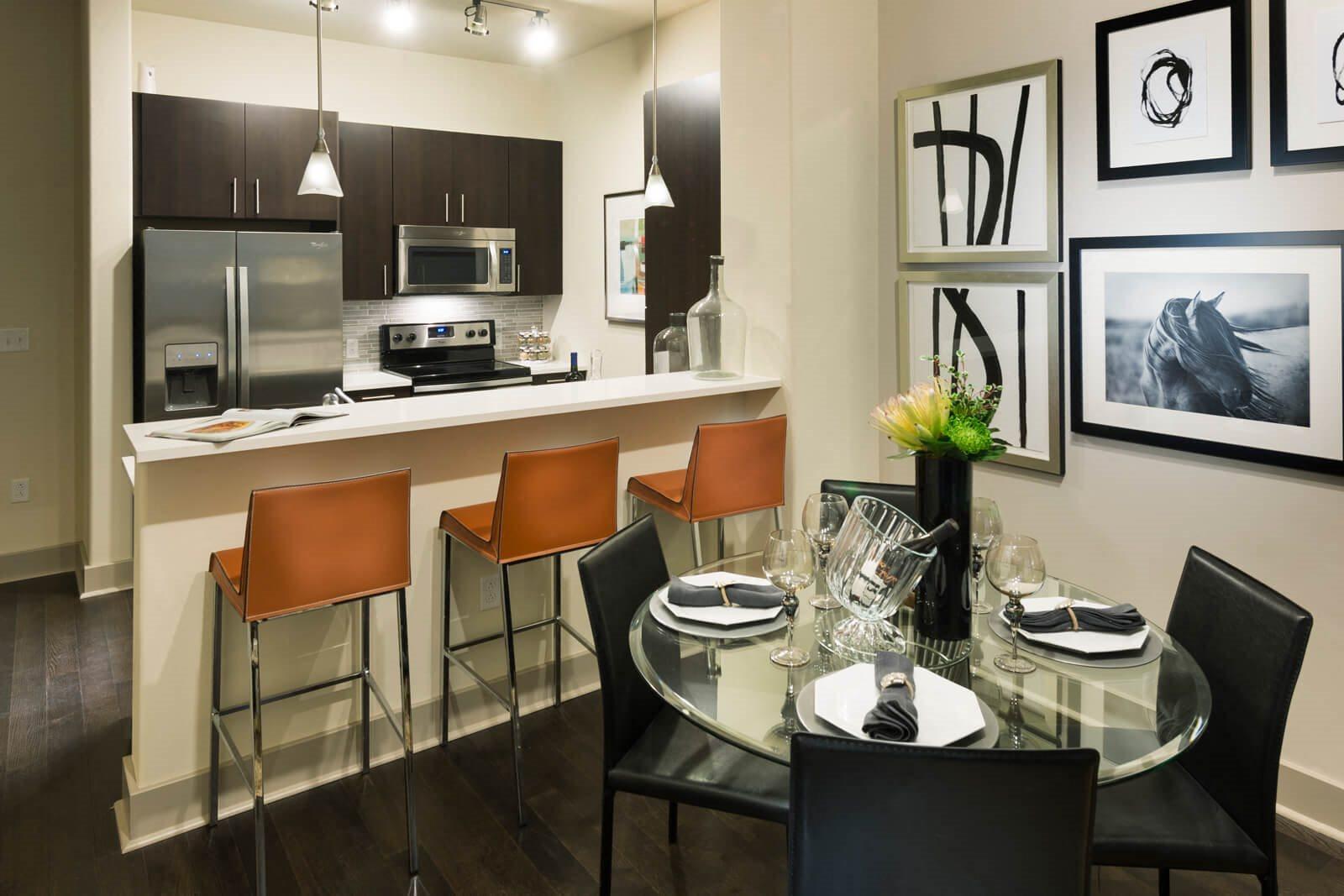 White Quartz Counters In Kitchen at Windsor at Cambridge Park, 02140, MA