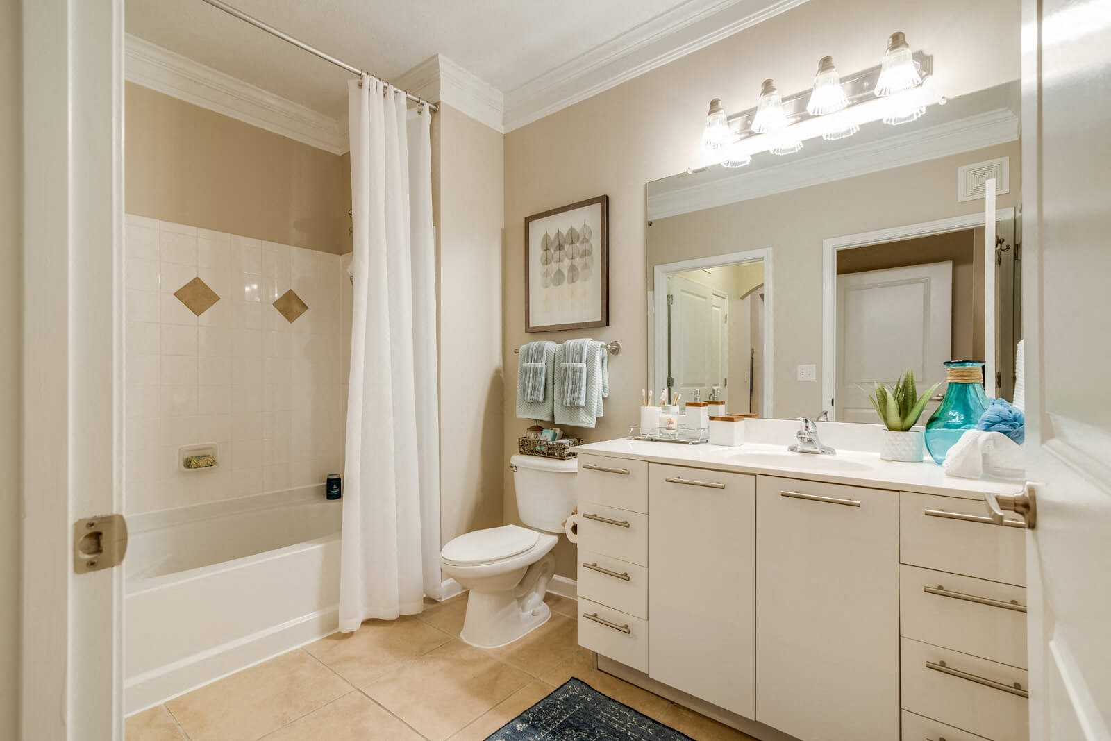 Spacious Bathrooms with Built-In Storage at Windsor at Contee Crossing, Laurel, MD