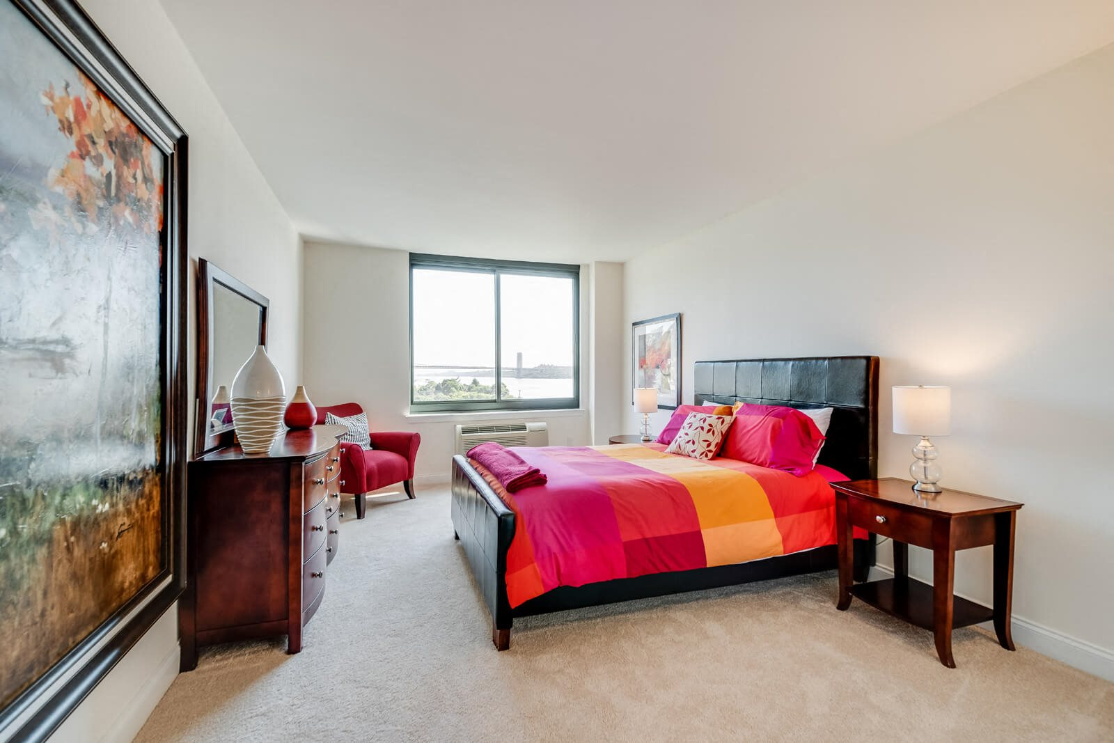 Master Bedroom with Views of NYC at Windsor at Mariners, New Jersey, 07020