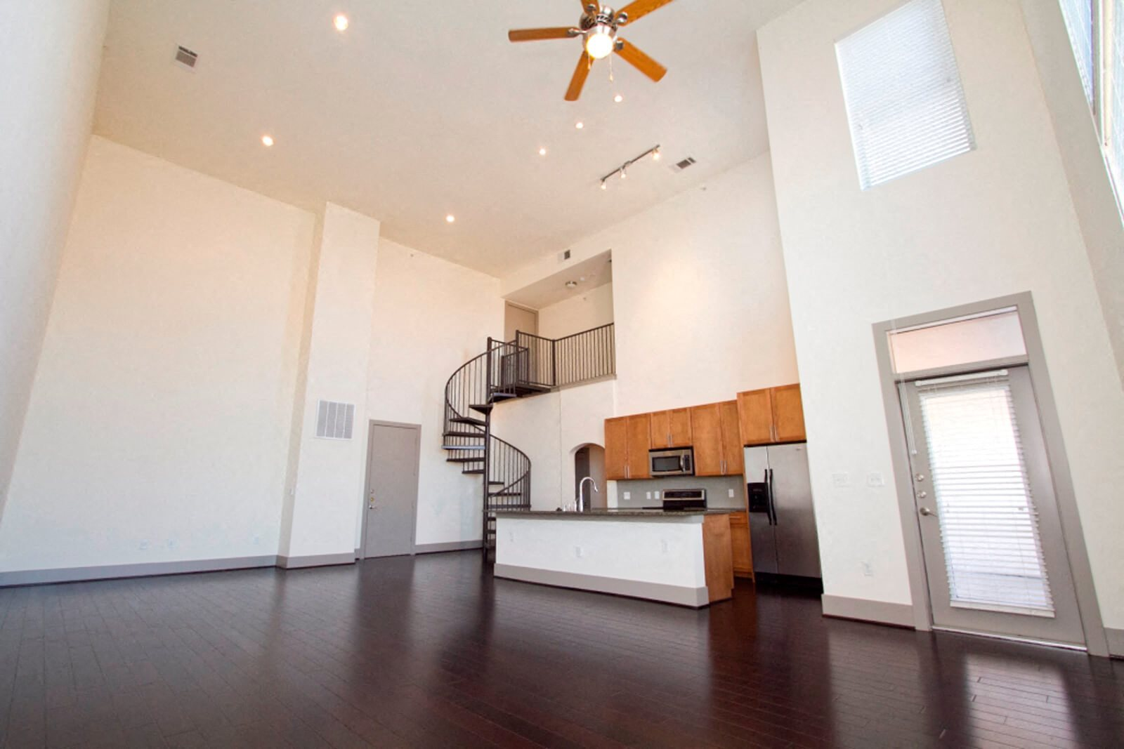 Spiral Staircases in Select Apartments at The Monterey by Windsor, Dallas, 75204