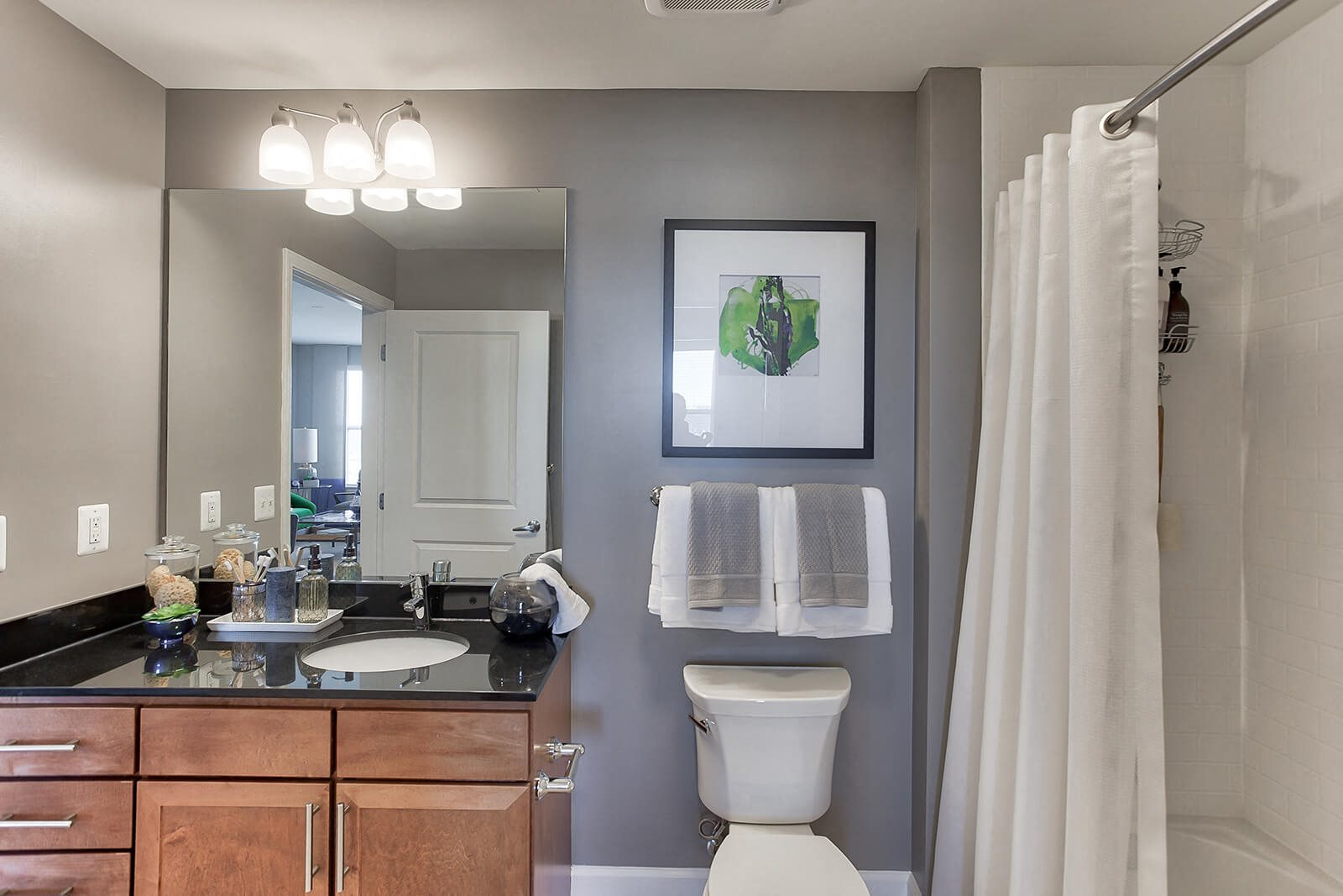 Spa-Inspired Bathrooms at The Ridgewood by Windsor, 4211 Ridge Top Road, Fairfax