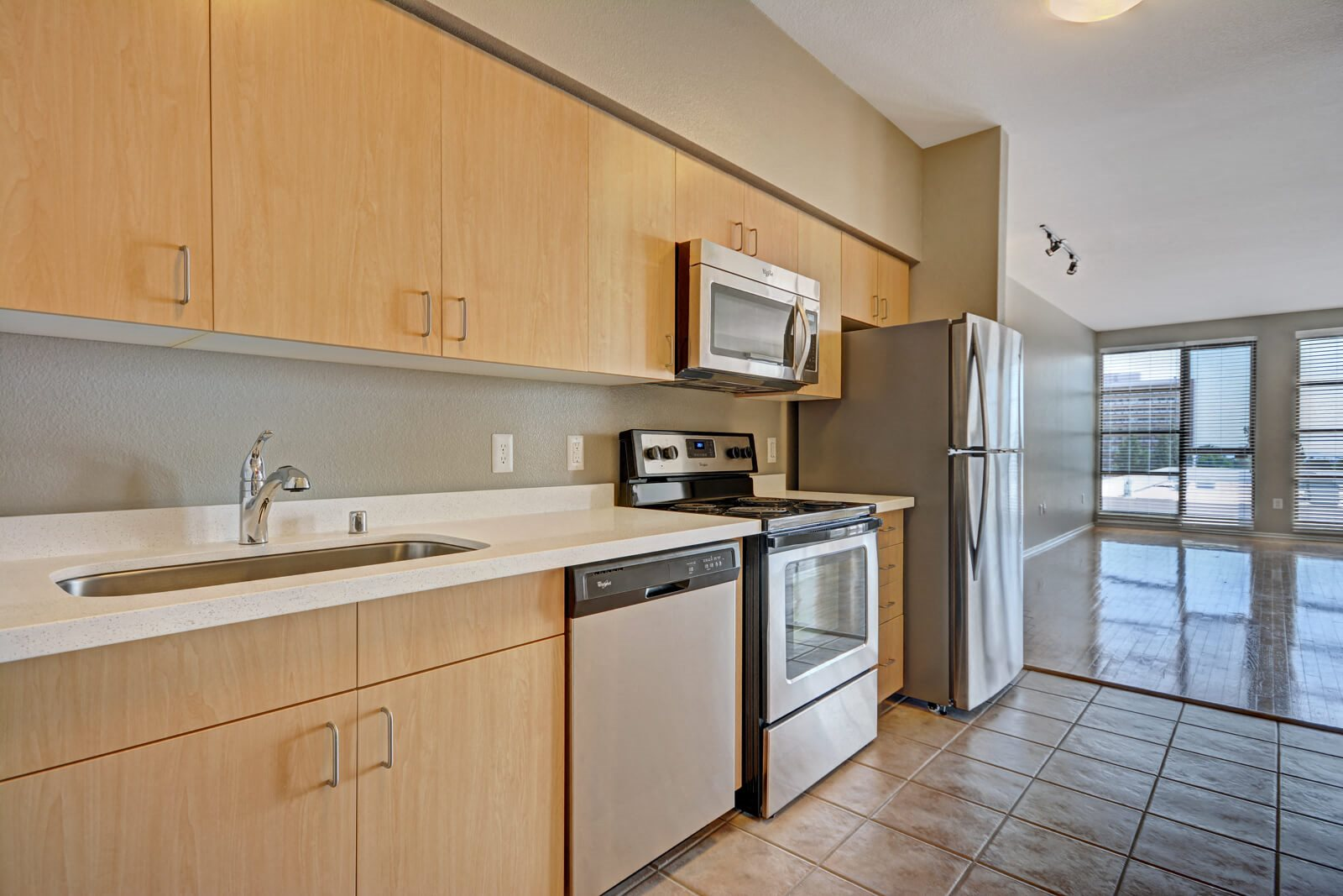 Modern Kitchens with Stainless Steel Appliances at Terraces at Paseo Colorado, 375 E. Green Street, CA