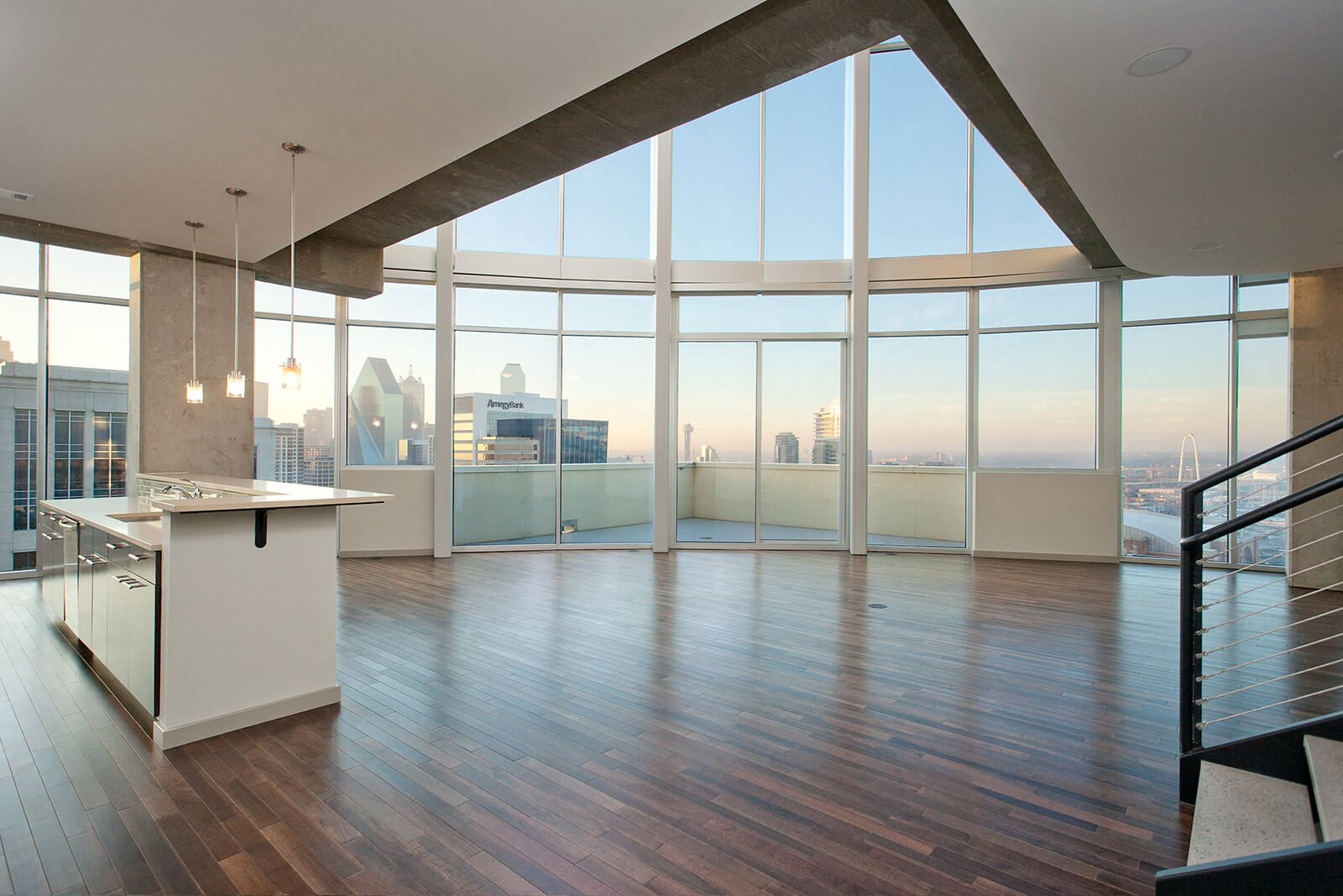 Two-Level Penthouse Floor Plans Available at Glass House by Windsor, 2728 McKinnon Street, Dallas