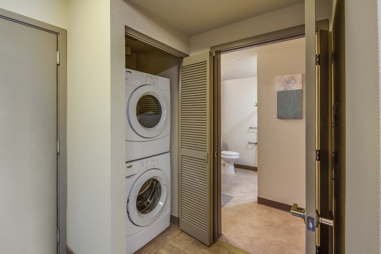 In-Closet Washers and Dryers at Platform 14, Oregon, 97124
