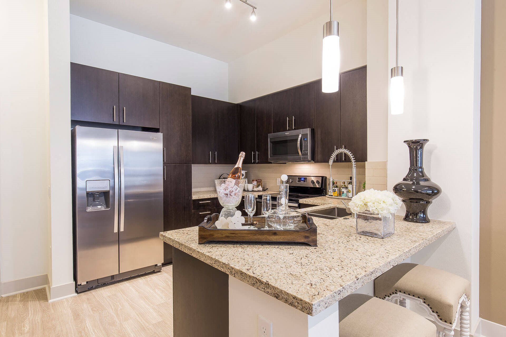 Gourmet chef kitchens, at Cannery Park by Windsor, San Jose, 95112