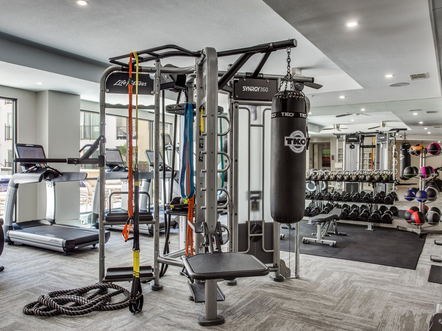 Strength Training Equipment at The Monterey by Windsor, Dallas, Texas