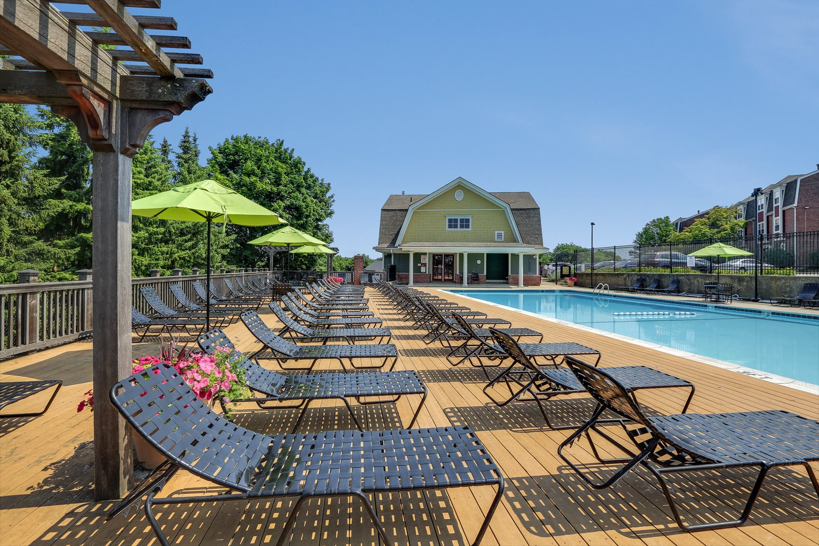 Poolside Sundeck at Windsor Village at Waltham, 976 Lexington Street, MA