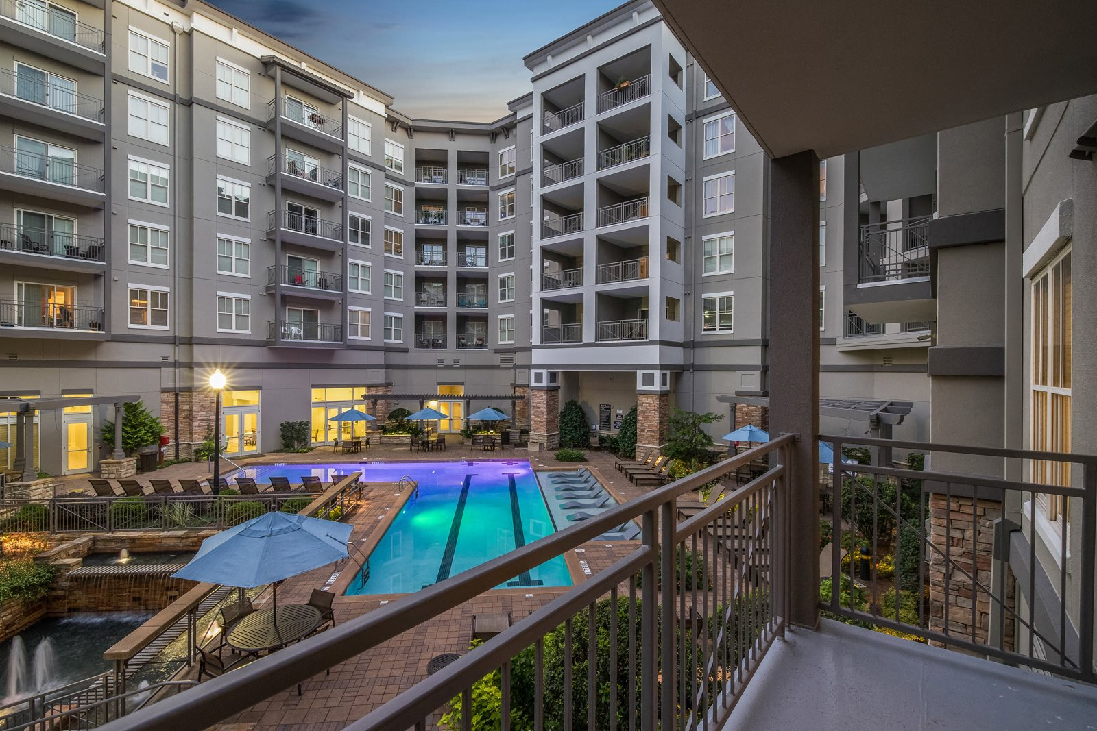 Serene Courtyard with Pool at Windsor at Brookhaven, Georgia, 30319