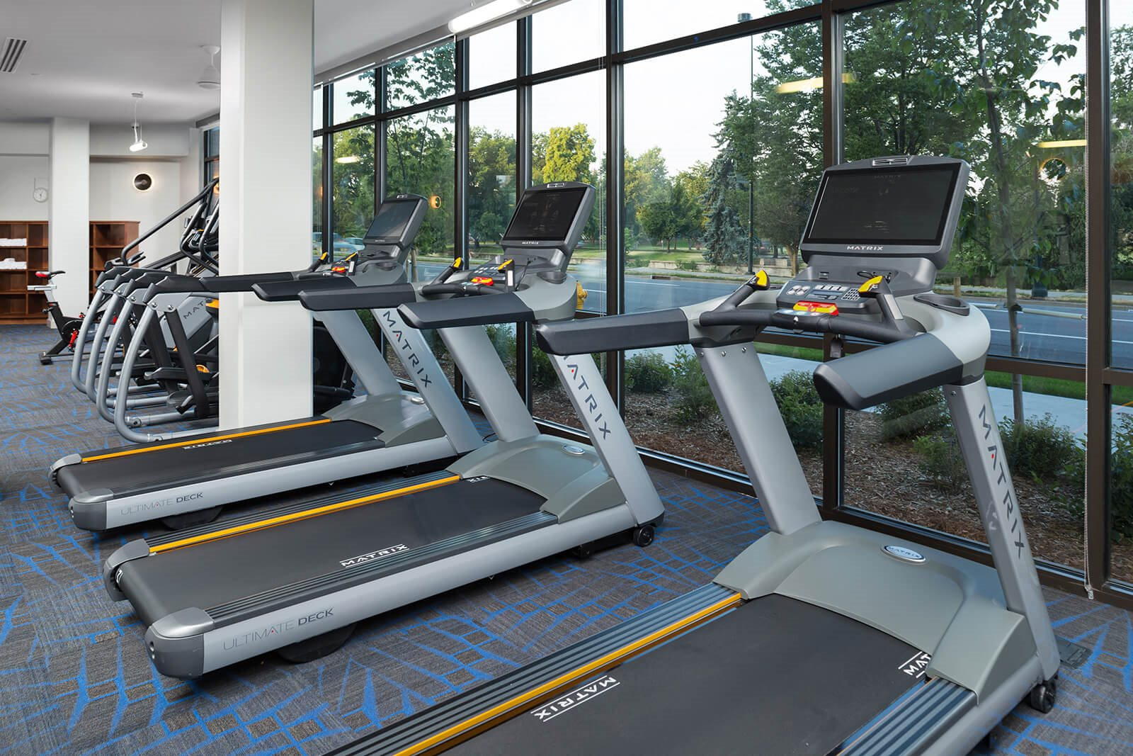 Fitness Center With Cardio Equipment at 1000 Speer by Windsor, Denver, 80204
