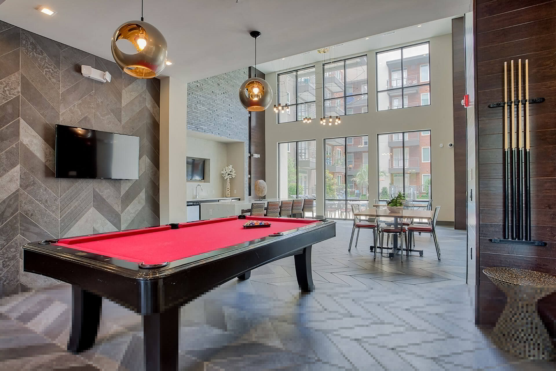 Game Room with Pool Table at Windsor by the Galleria, Dallas, 75240