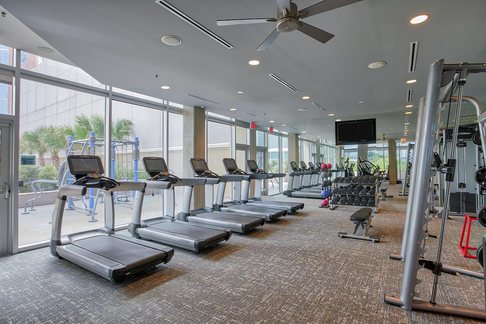 Updated, High-Tech Fitness Center at Glass House by Windsor, 2728 McKinnon Street, TX