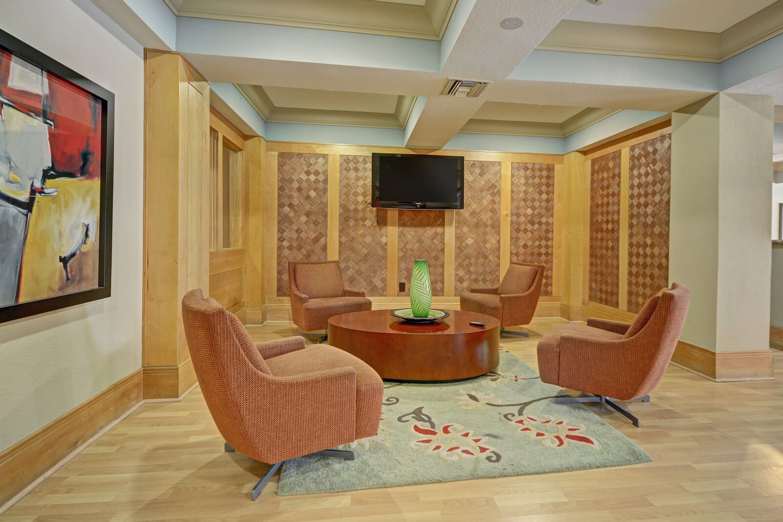 Expansive Lobby with TV at Windsor at Main Place, 1235 West Town and Country Road, Orange
