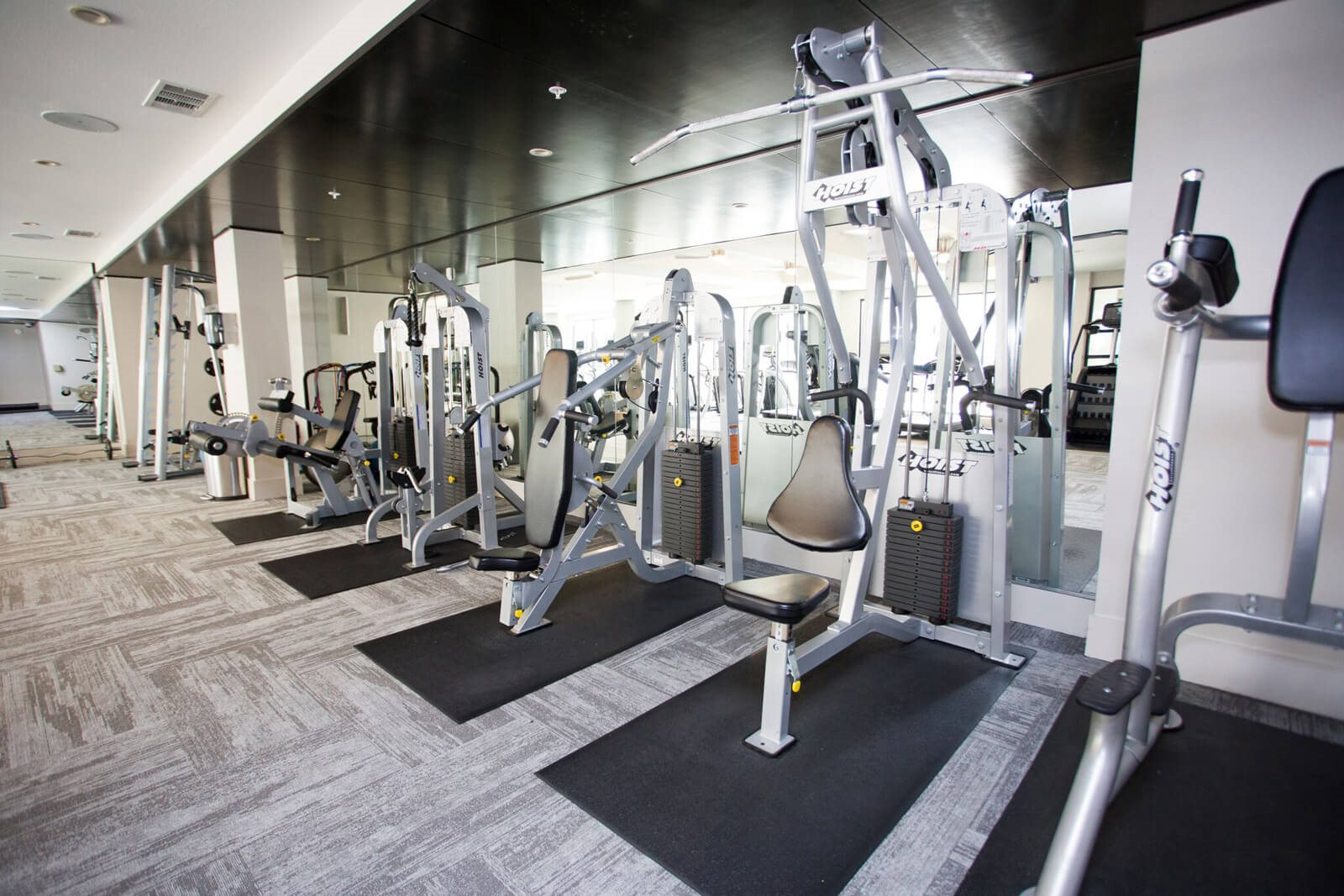 Strength Equipment in Fitness Center at The Monterey by Windsor, Dallas, Texas