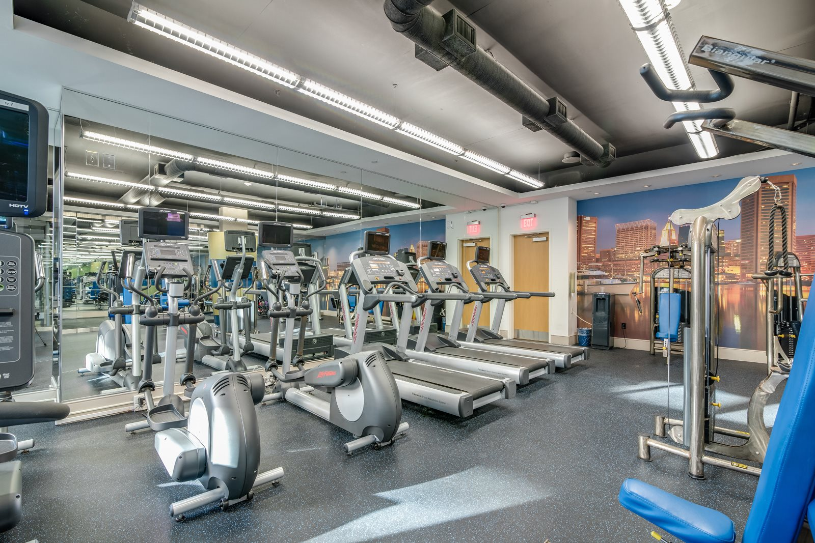 Fully-Equipped Fitness Center at Crescent at Fells Point by Windsor, Baltimore, 21231