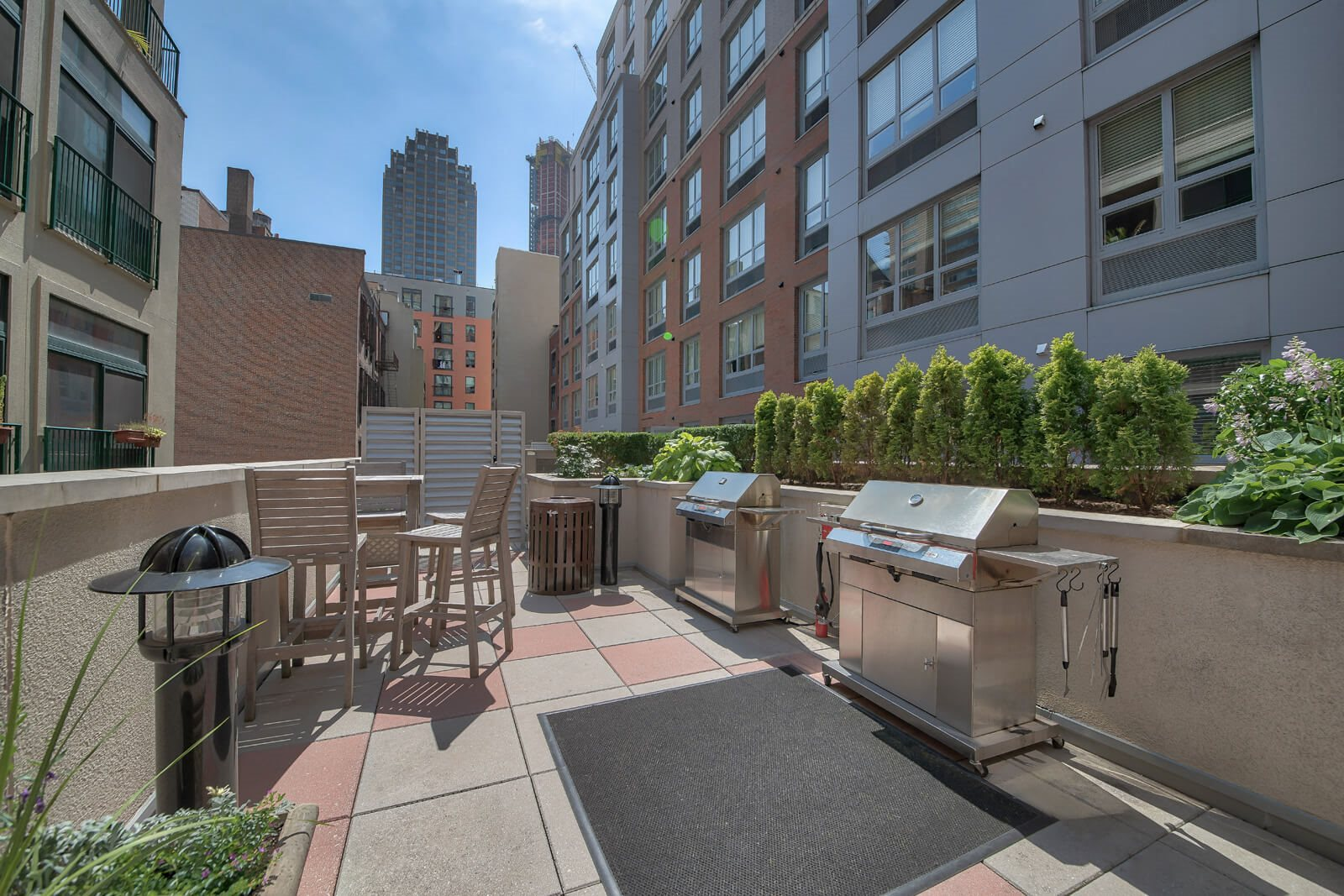 Community Balcony With Grilling Stations at Warren at York by Windsor, New Jersey