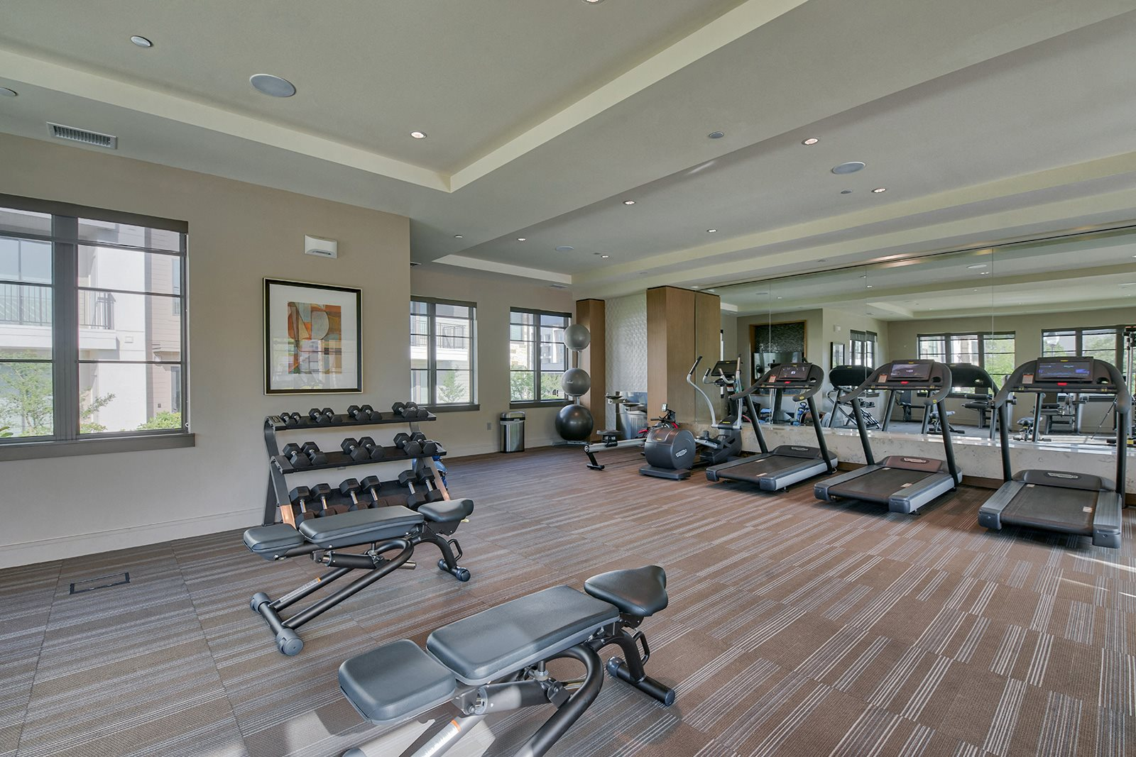 Fully-Equipped Fitness Center at Windsor Lantana Hills, 6601 Rialto Blvd, Austin