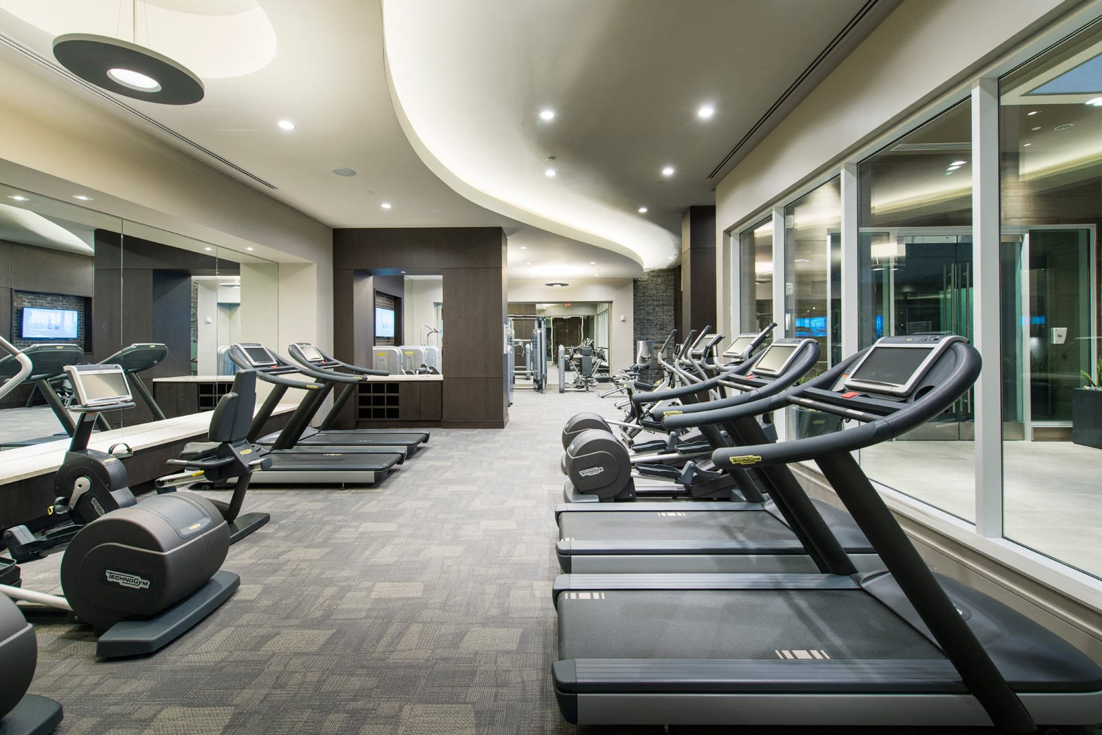 Cardio Equipment in Gym at 1000 Grand by Windsor, Los Angeles, 90015