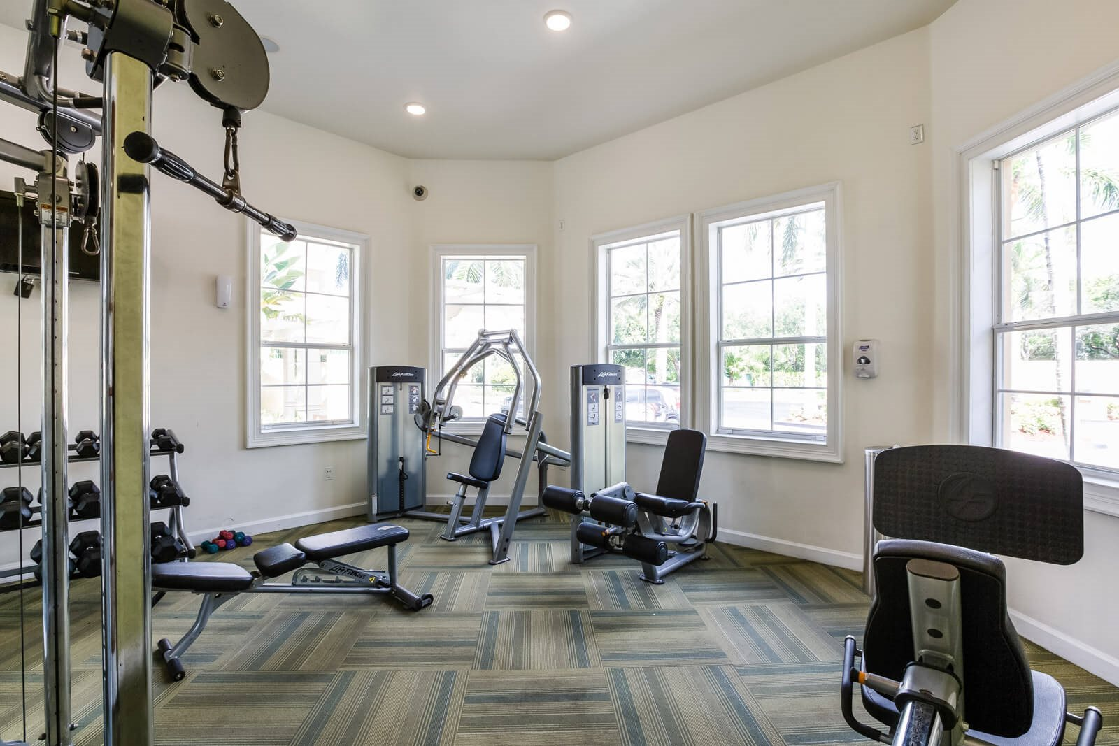 Fully-Equipped Fitness Center with Strength Equipment at Windsor at Miramar, 3701 Southwest 160th Avenue, FL