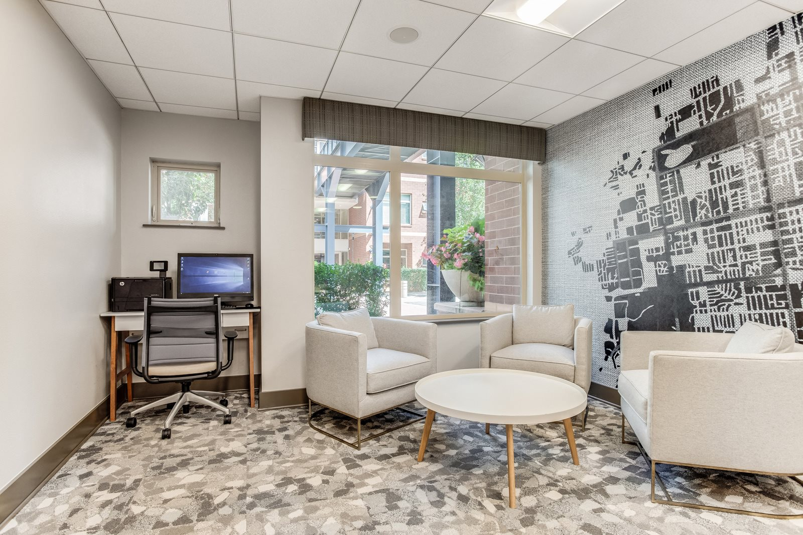 Access to 24/7 business center at The District, Denver, CO