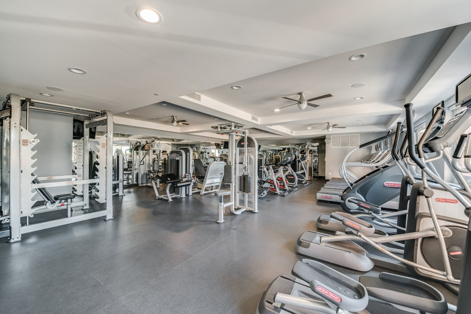 Fitness Center with Modern Equipment at Twenty50 by Windsor, Fort Lee, NJ