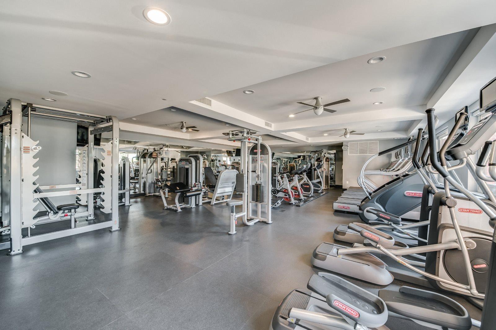 Fitness Center with Modern Equipment at Twenty50 by Windsor, Fort Lee, NJ