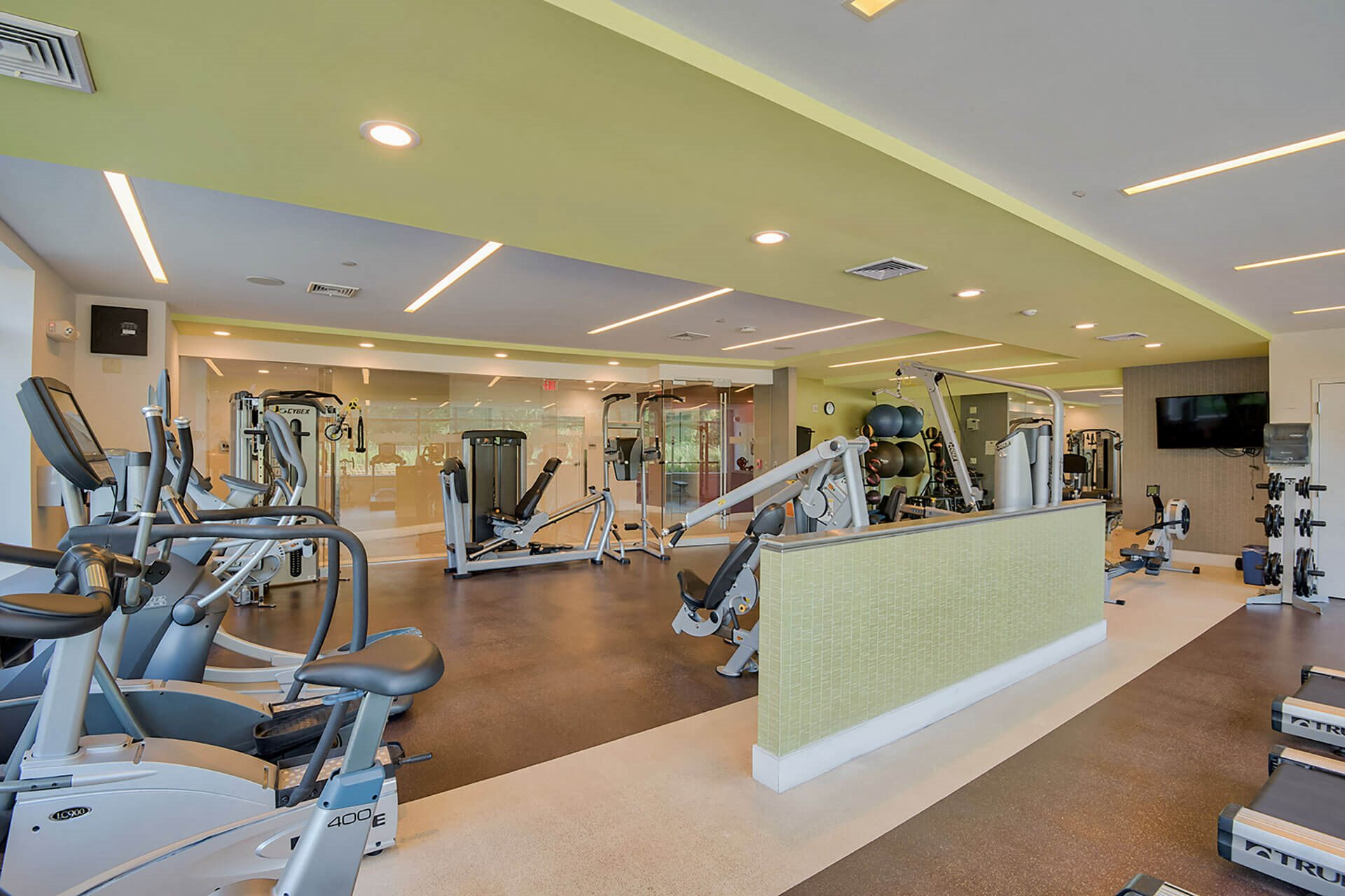 Fitness Center with Cardio Equipment at Vox on Two, 223 Concord Turnpike, Cambridge