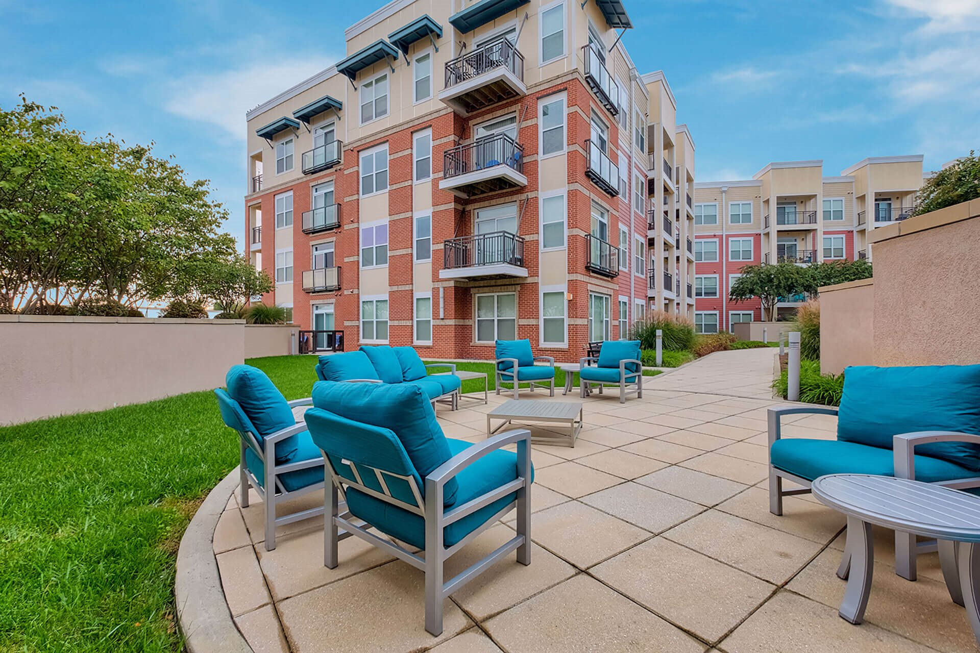 Double courtyards at The Ridgewood by Windsor, Virginia, 22030