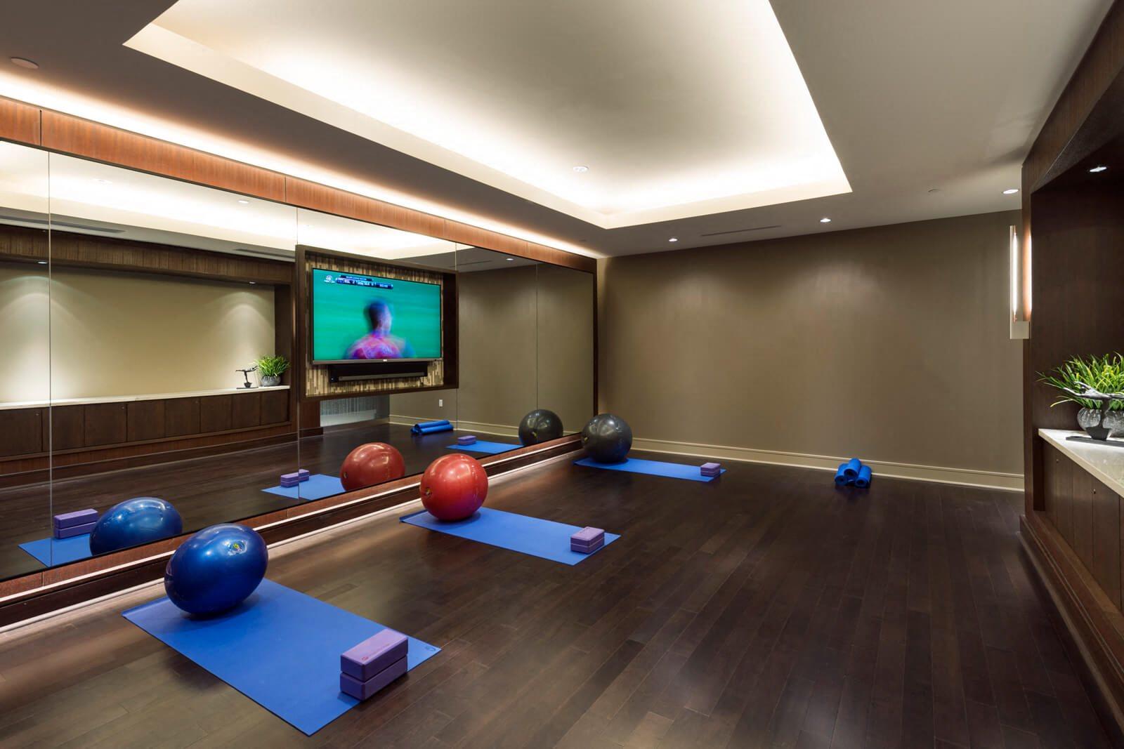 Yoga Studio with Complimentary Classes at Windsor at Cambridge Park, 160 Cambridge Park Drive, Cambridge
