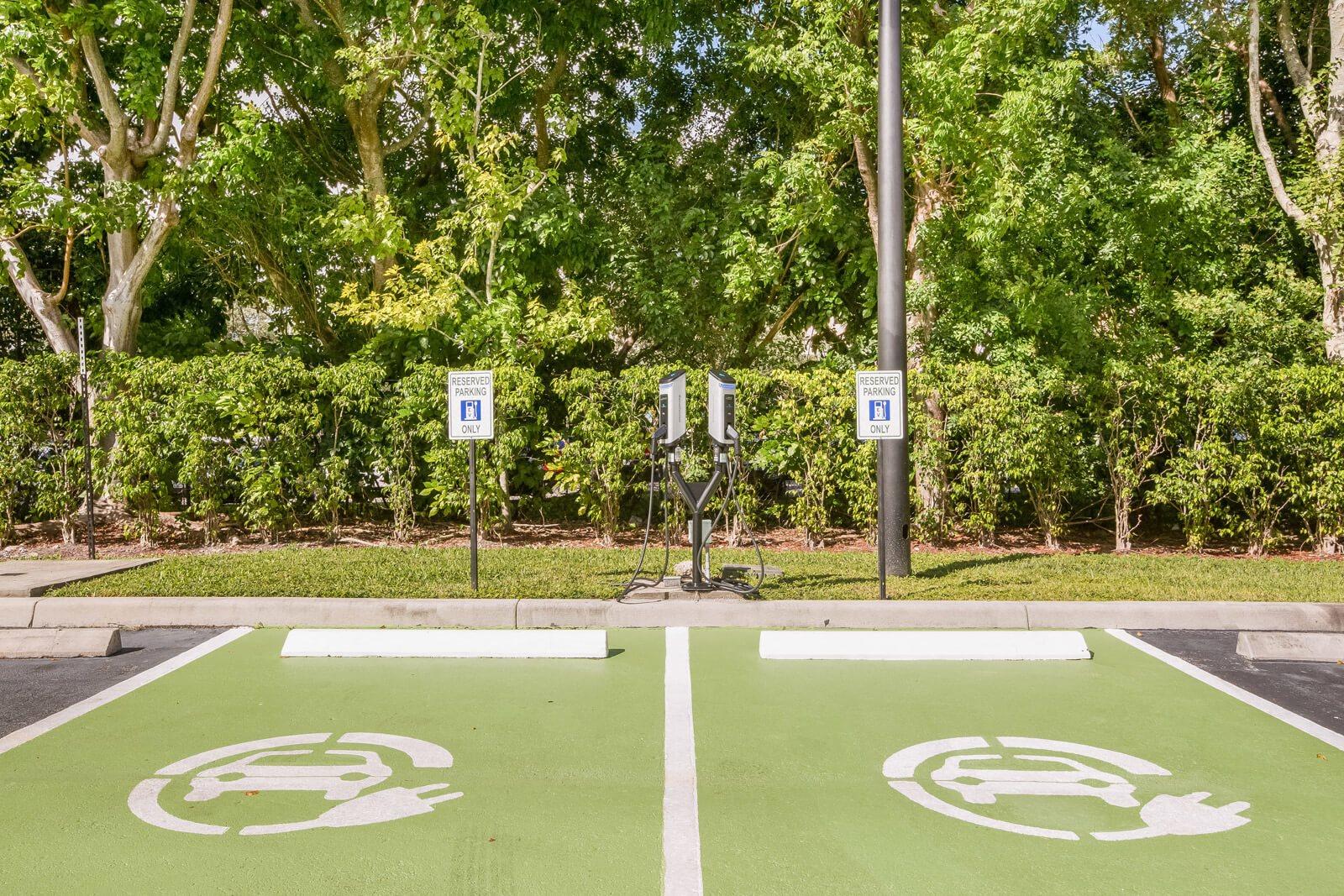 EV car charging stations at Windsor at Miramar, 3701 Southwest 160th Avenue, Miramar