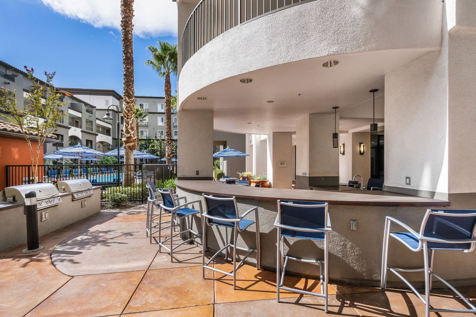 Outdoor Bar and Grilling Station at Dublin Station by Windsor, 5300 Iron Horse Pkwy, CA