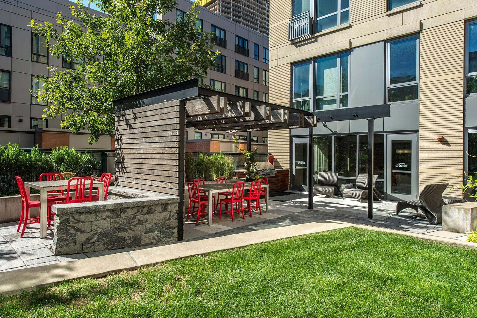 Outdoor Lounge Space at The Victor by Windsor, 02114, MA
