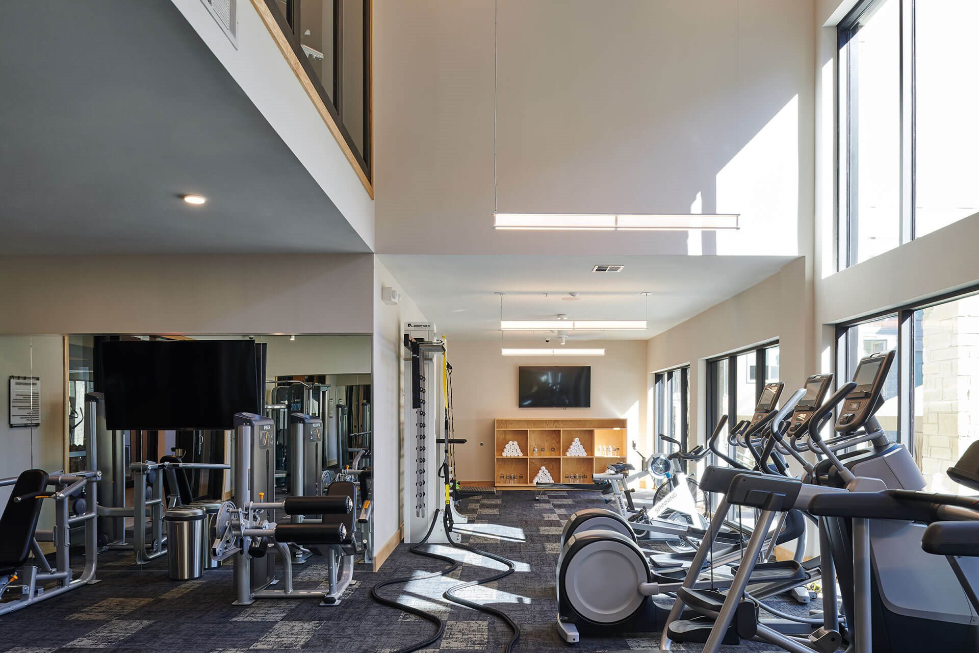 The Athletic Center with Cardio Theater, Free Weights, and More at Windsor Burnet, Austin, TX