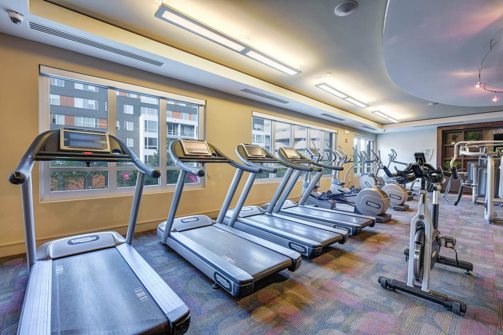 24-Hour Fitness Club With State-Of-The-Art Equipment at Windsor at Cambridge Park, Cambridge, Massachusetts