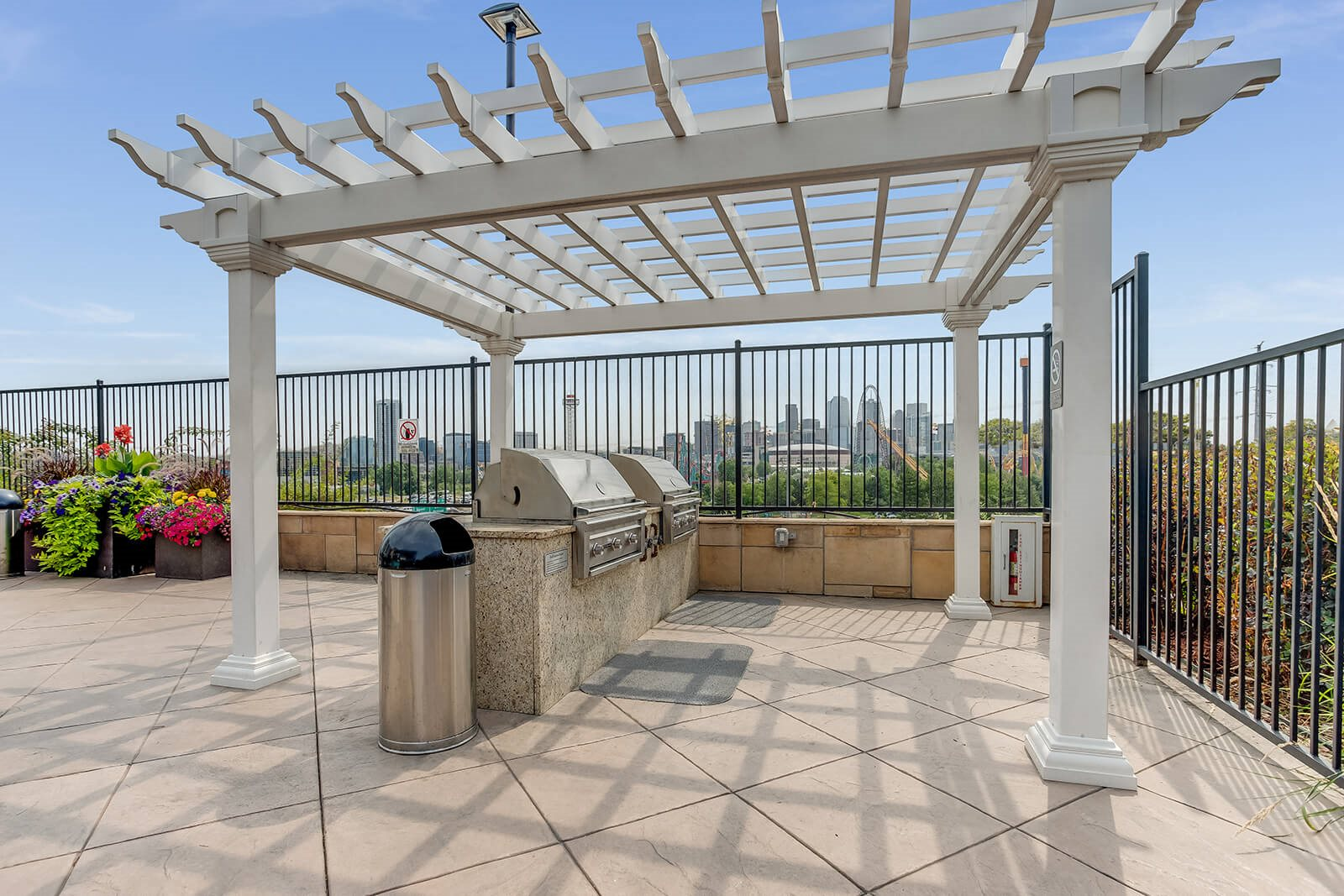 Rooftop Terrace with Grills and Lounge Space at Element 47 by Windsor, 2180 N. Bryant St., CO