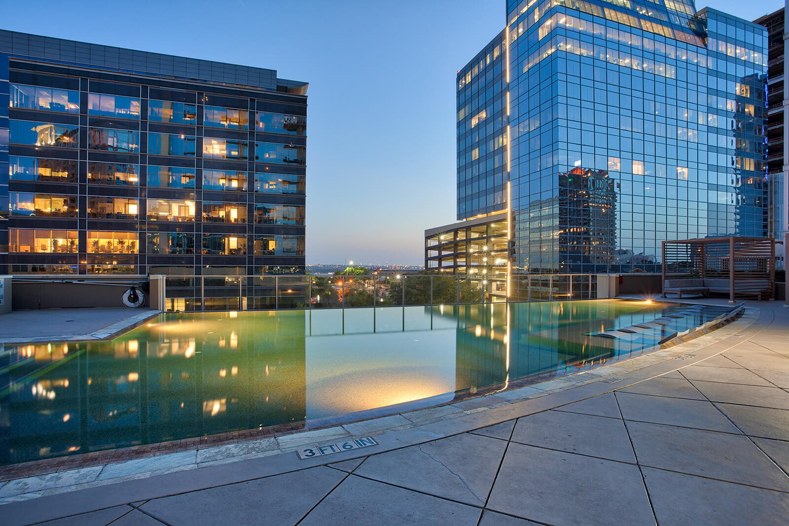 Resort-Inspired Infinity Pool at Glass House by Windsor, Dallas, 75201