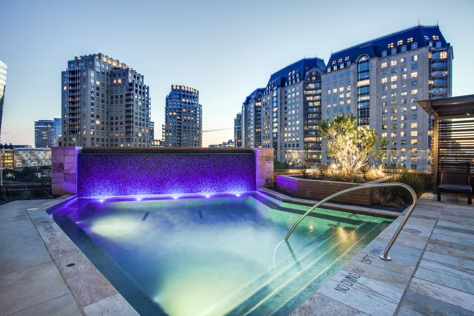 Glimmering, Nighttime Pool at The Jordan by Windsor, 75201, TX