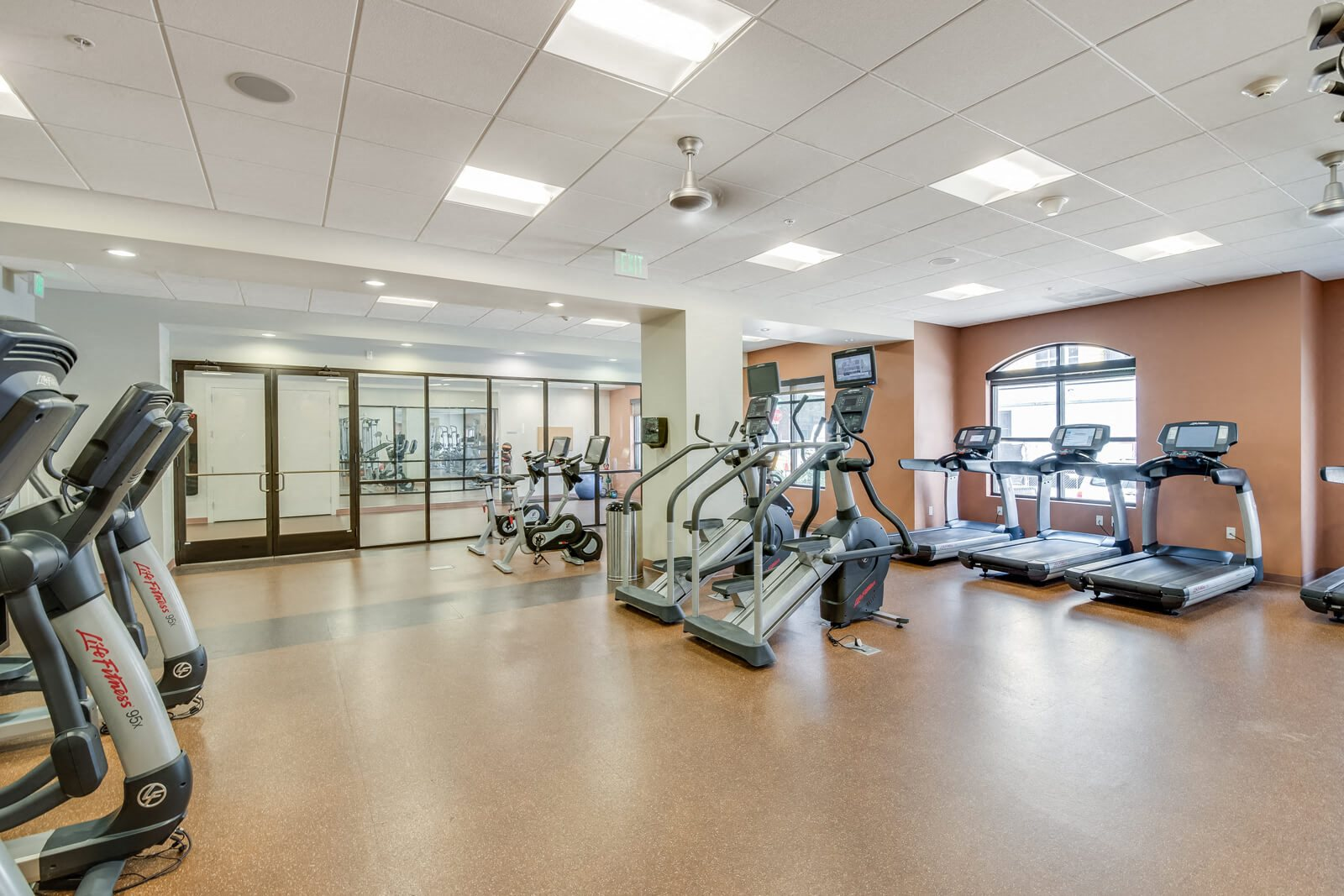 Cardio Equipment in Fitness Center at The Manhattan, 1801 Bassett Street, CO
