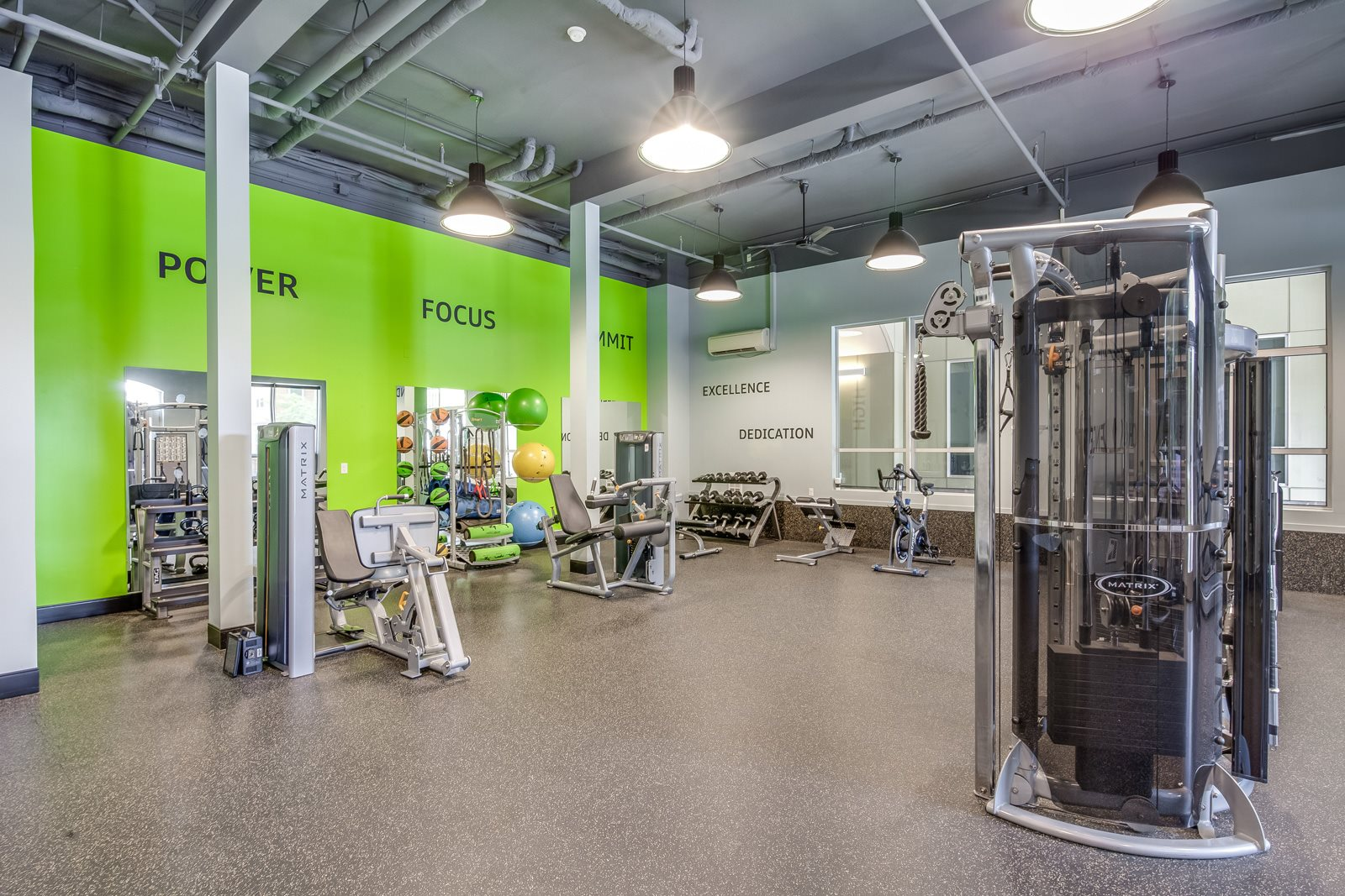 Fitness Center with Ample Workout Space at Platform 14, Hillsboro, OR