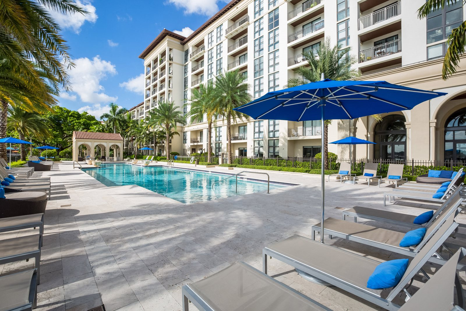 Sundeck and Lounge Chairs by Resort-Style Pool at Windsor at Doral, 4401 NW 87th Avenue, Doral