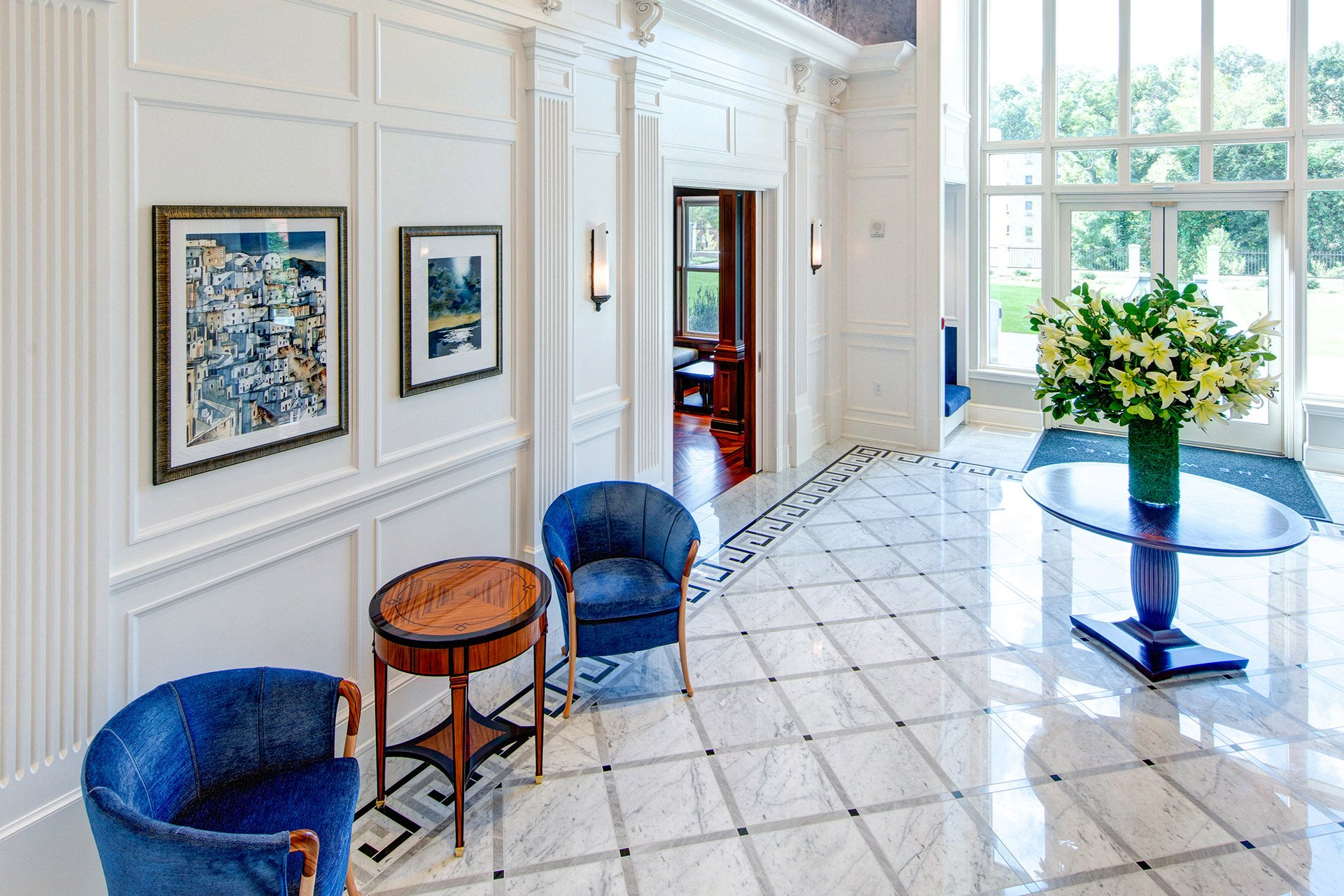 Inviting Reception Area at The Woodley, 2700 Woodley Road, NW, Washington, DC