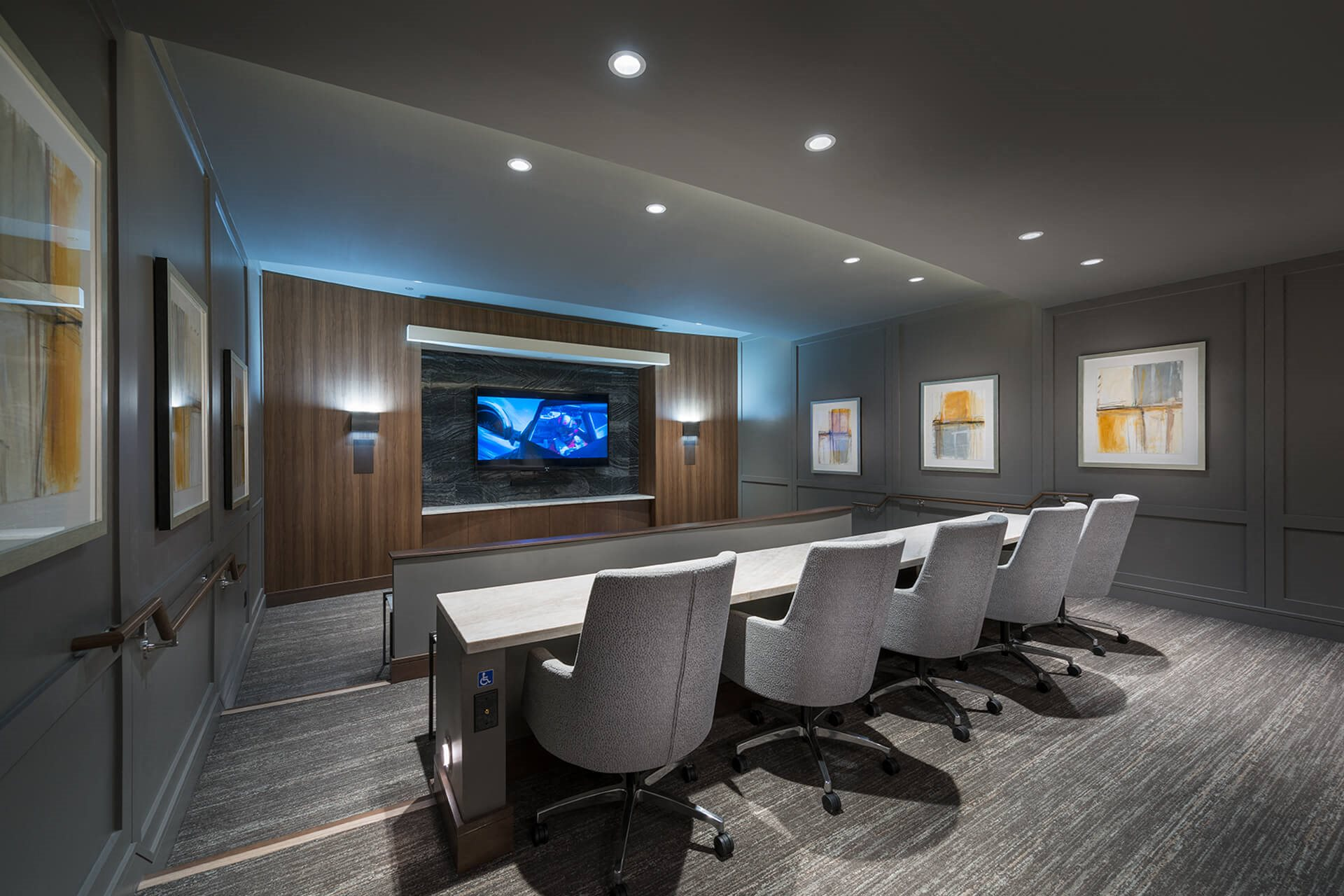Private Media and Screening Room at Cannery Park by Windsor, 415 E Taylor St, CA
