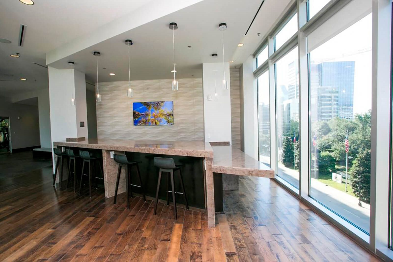 Stylish Lounge and Urban Bar in Club Room at Glass House by Windsor, Texas, 75201
