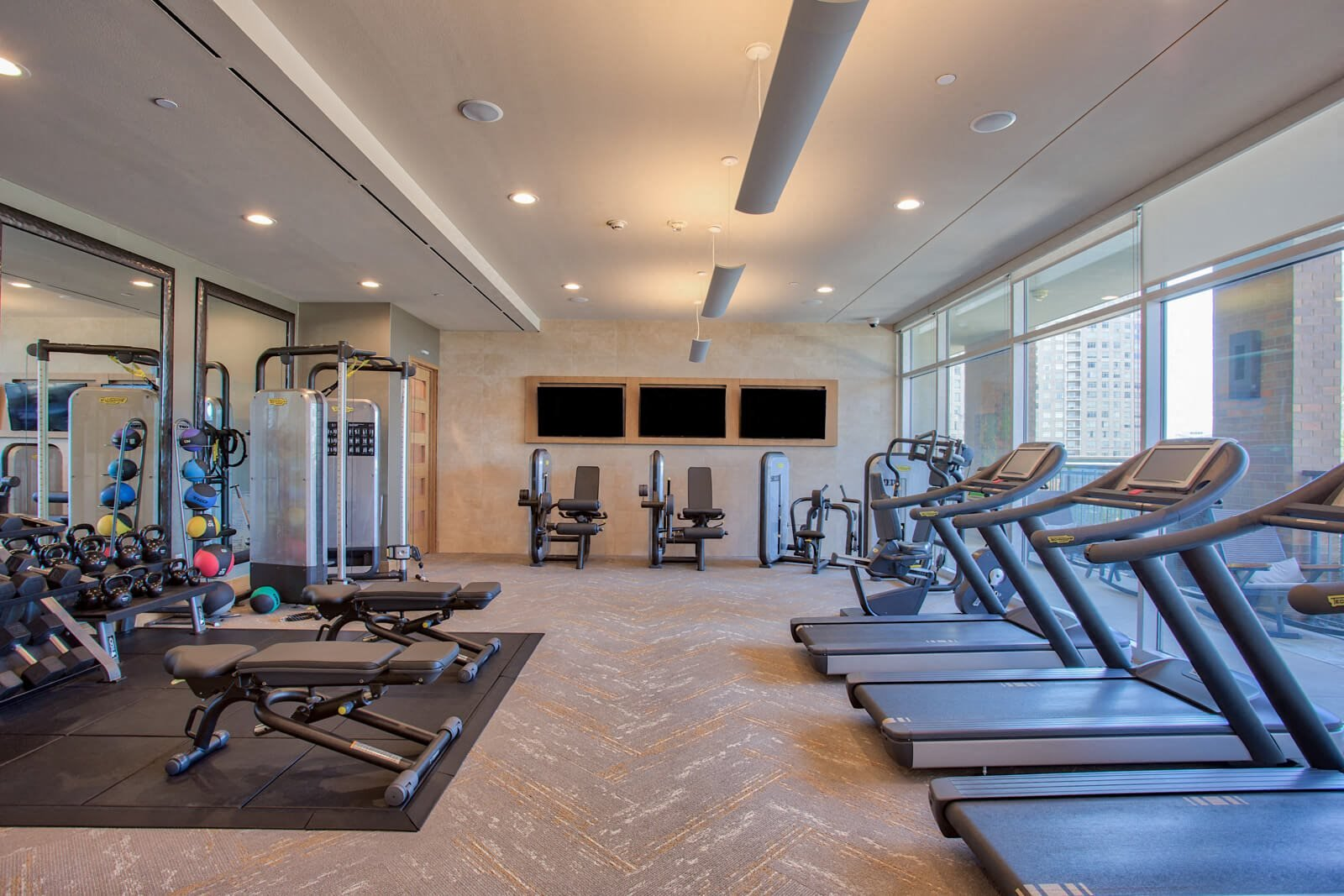 State-of-the-Art Fitness Center with Peloton Cycling Studio at The Jordan by Windsor, 2355 Thomas Ave, TX