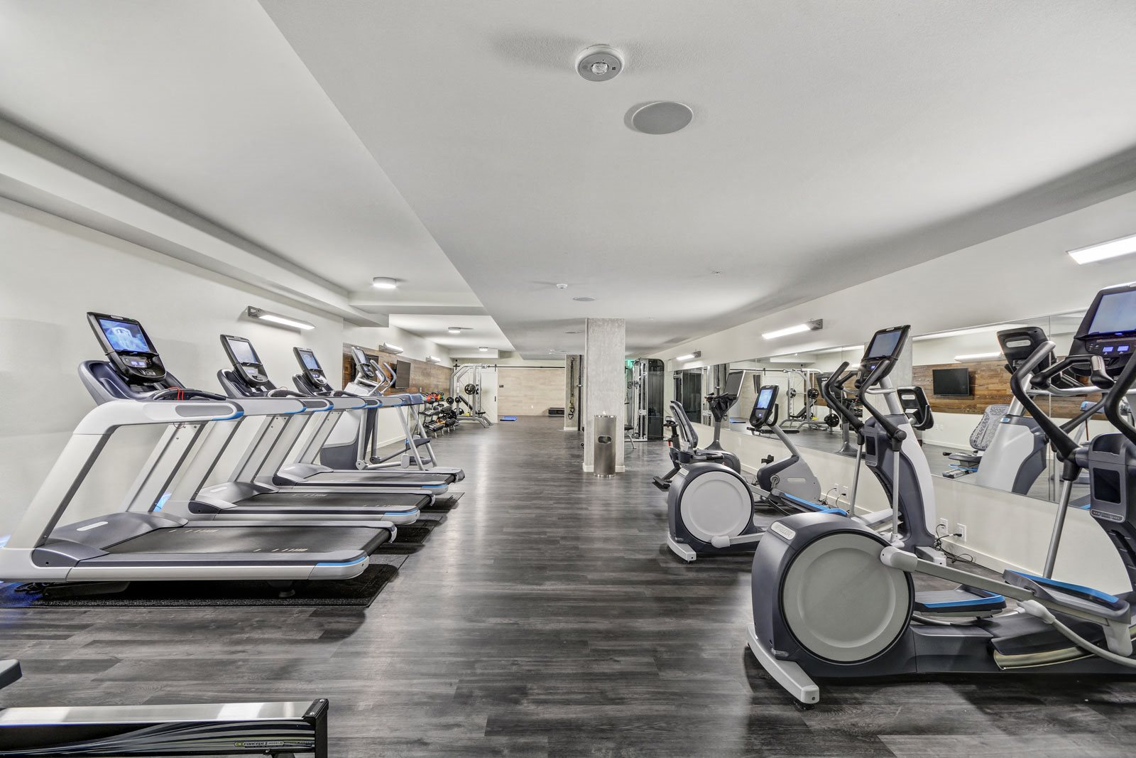 Cardio Equipment with Entertainment Capabilities at The Whittaker, Seattle, 98116