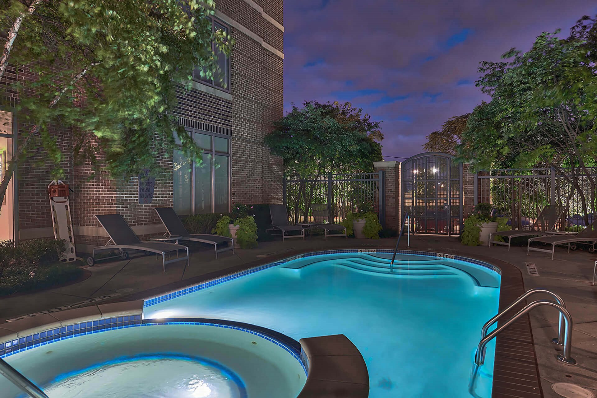 Sparkling Pool and Hot Tub at Crescent at Fells Point by Windsor, 951 Fell Street, Baltimore