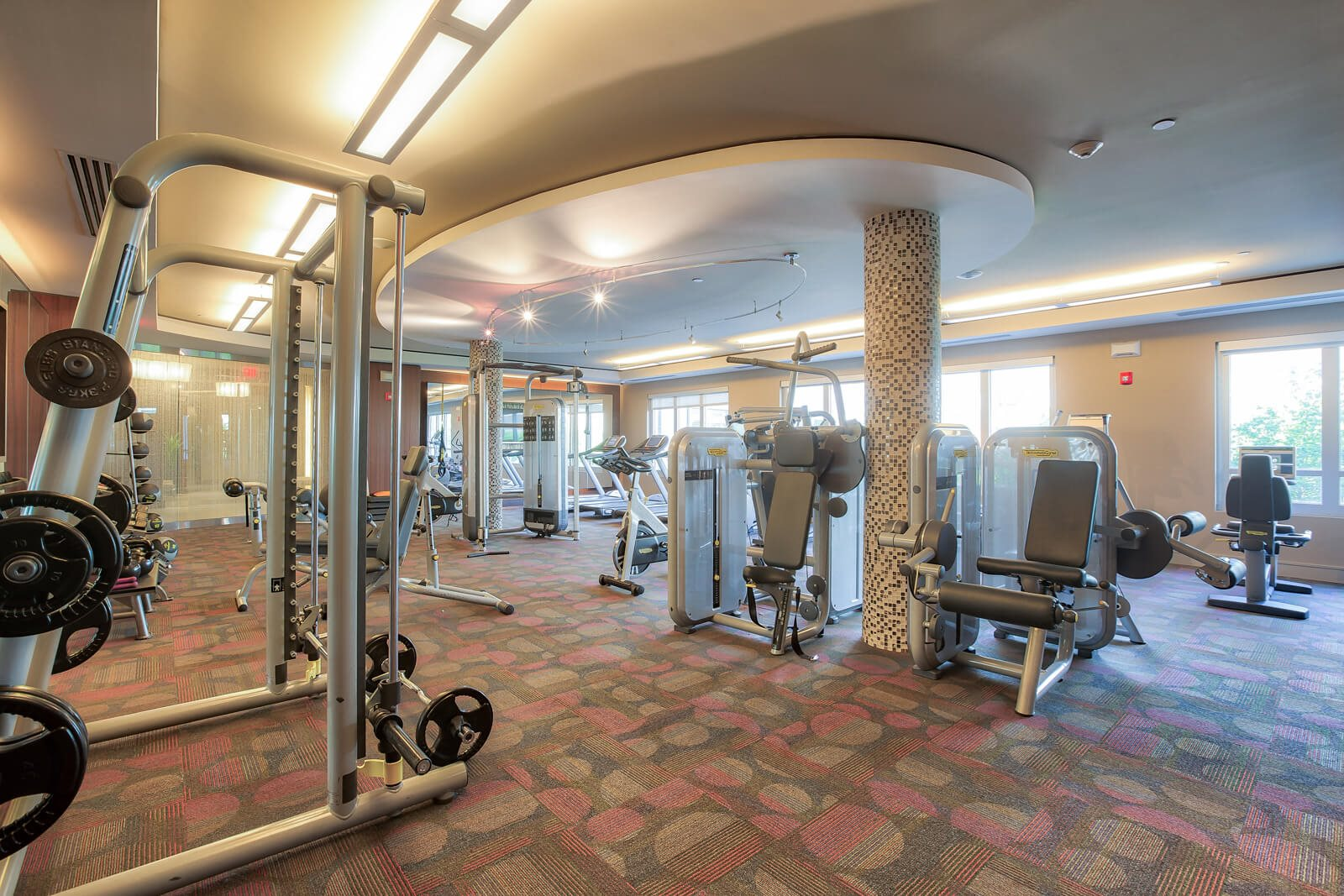 Modern, Spacious Fitness Center at Windsor at Cambridge Park, Massachusetts, 02140