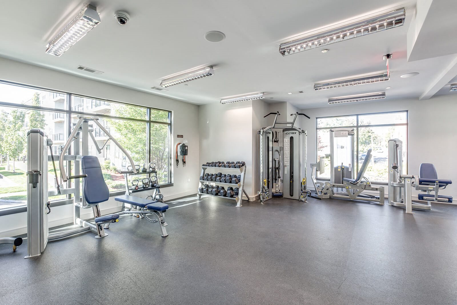 Cardio, Strength, and Free Weight Equipment in Fitness Center at Windsor at Maxwells Green, Massachusetts, 02144